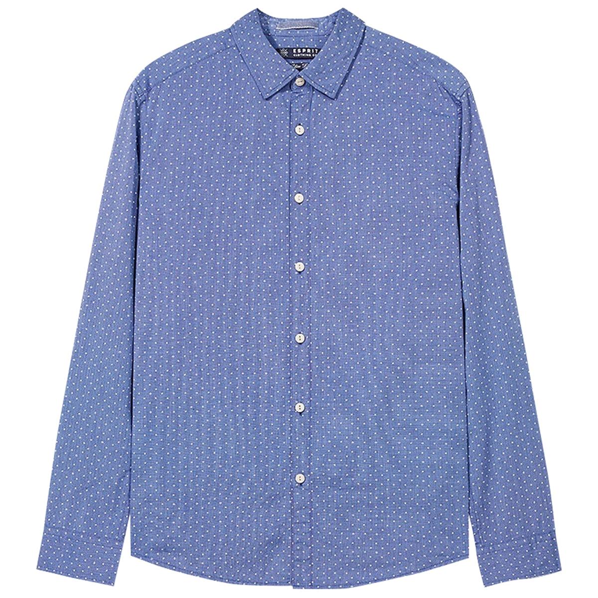 Рубашка в горошекРубашка прямого покроя. Воротник со свободными уголками. Длинные рукава. Состав и описаниеМатериал          100% хлопокМарка          ESPRITУходМашинная стирка при 30 °С с вещами схожих цветовСтирать и гладить с изнаночной стороныМашинная сушка в умеренном режимеГладить при низкой температуре<br><br>Цвет: синий<br>Размер: S