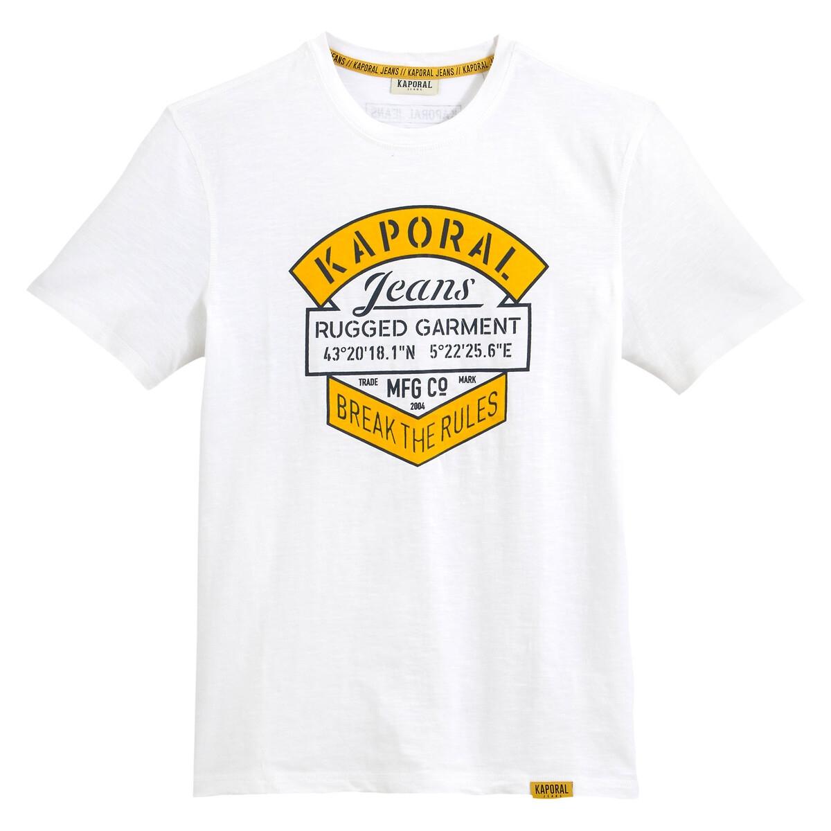 Футболка La Redoute Прямая с логотипом с принтом Torzo M белый свитшот la redoute с логотипом в винтажном стиле la redoute m белый