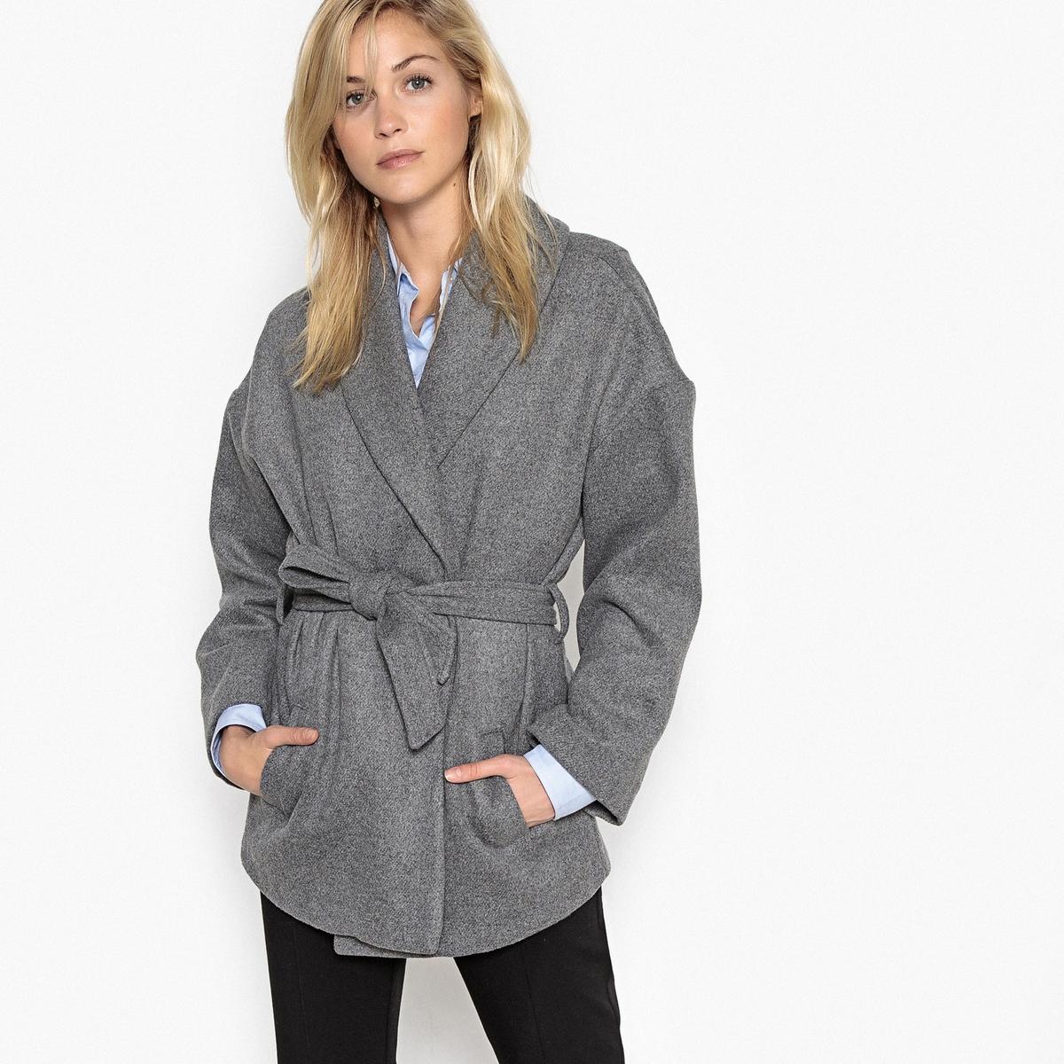 Пальто-халат, 50% шерсти