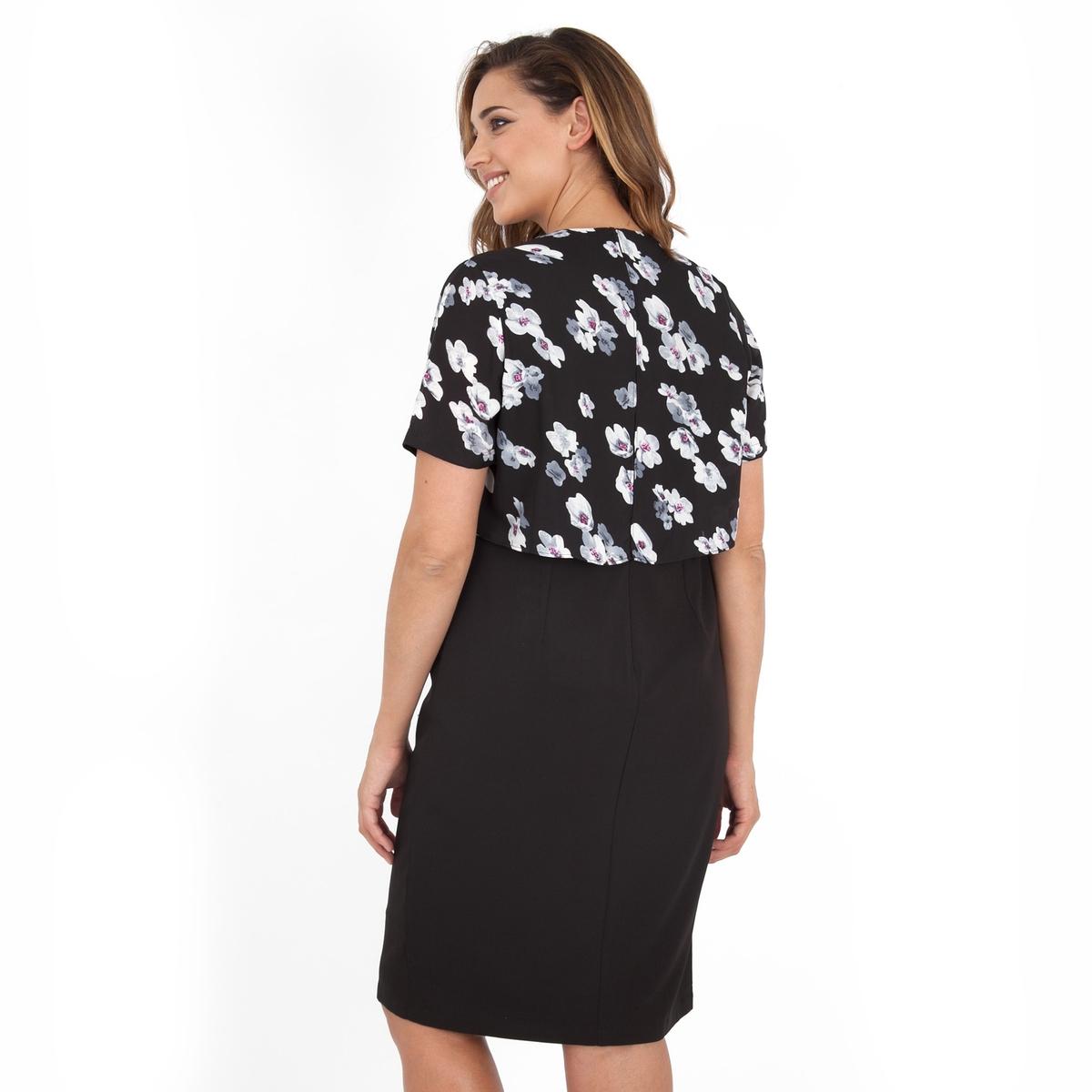 ПлатьеПлатье с короткими рукавами - KOKO BY KOKO. Длина ок.104 см. 100% полиэстера.<br><br>Цвет: набивной рисунок