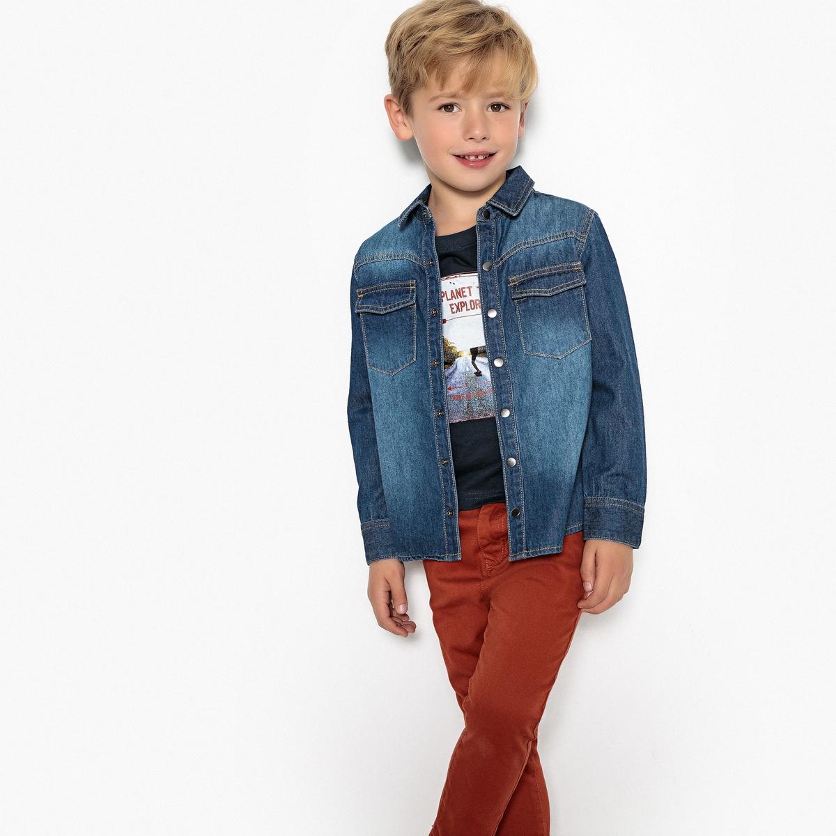 Рубашка джинсовая, для 3-12 лет рубашка джинсовая 3 12 лет