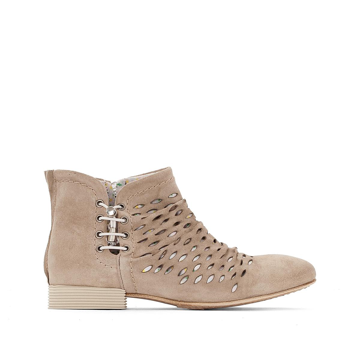 Кожаные ботинки  SachiВерх/Голенище : Кожа.  Подкладка : Кожа.  Стелька : Кожа.  Подошва : каучук  Высота каблука : 1 см  Форма каблука : плоский каблук  Мысок : закругленный.  Застежка : на молнию.<br><br>Цвет: серо-коричневый<br>Размер: 38