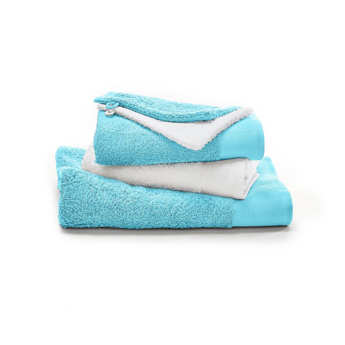Комплект из двухцветных банных La Redoute Принадлежностей гм SCENARIO единый размер синий полотенце la redoute для рук из махровой ткани хлопок с люверсом единый размер бежевый