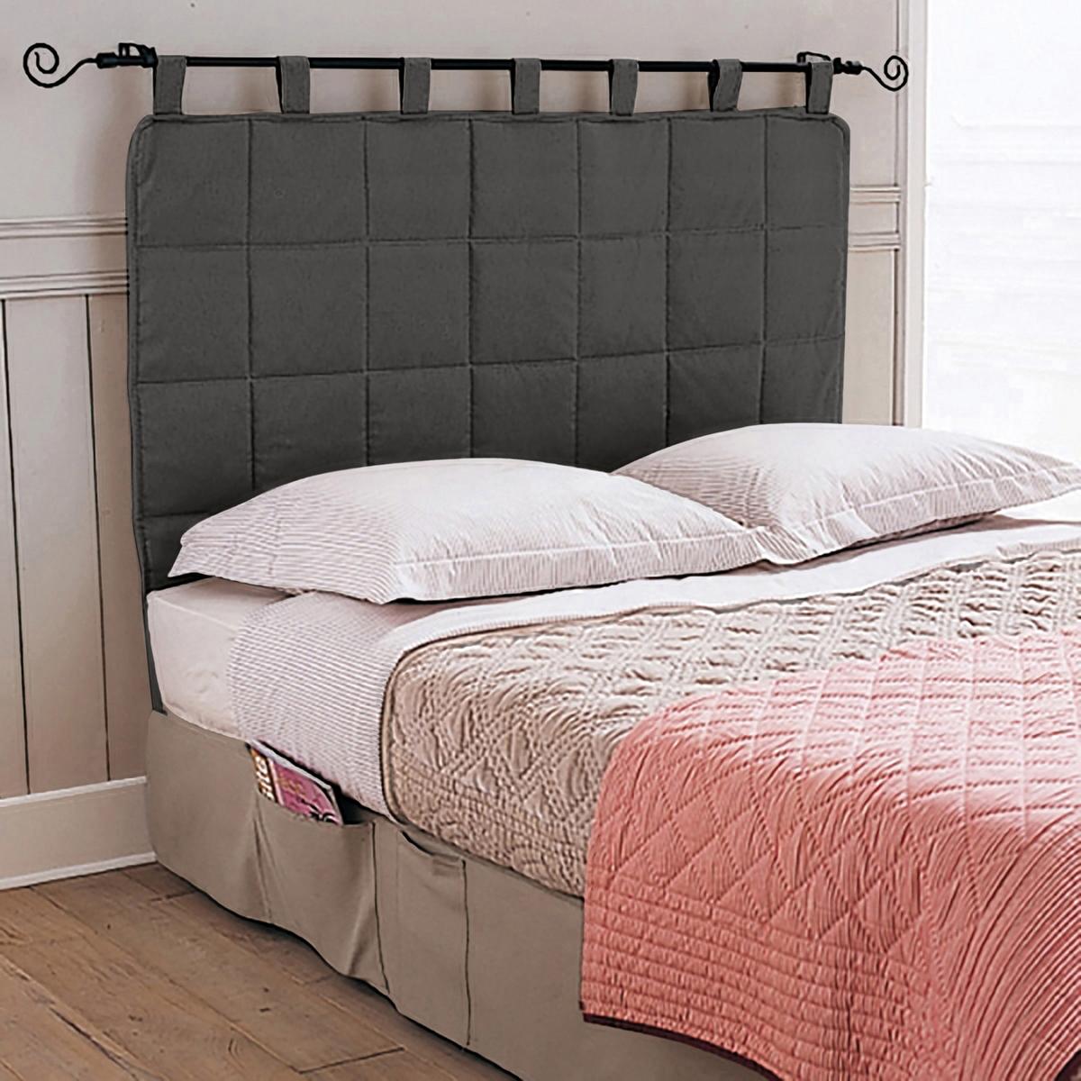 Изголовье LaRedoute Кровати с обивкой 100 x 100 см серый изголовье laredoute кровати с обивкой прямая форма 90 см белый