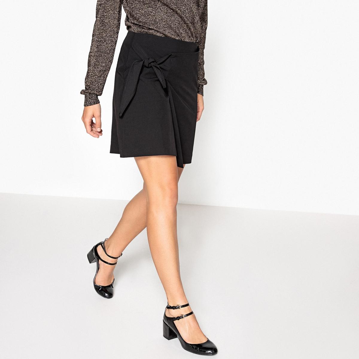 Юбка La Redoute Короткая с драпировкой 34 (FR) - 40 (RUS) черный юбка la redoute короткая прямая из ткани с пропиткой 40 fr 46 rus черный