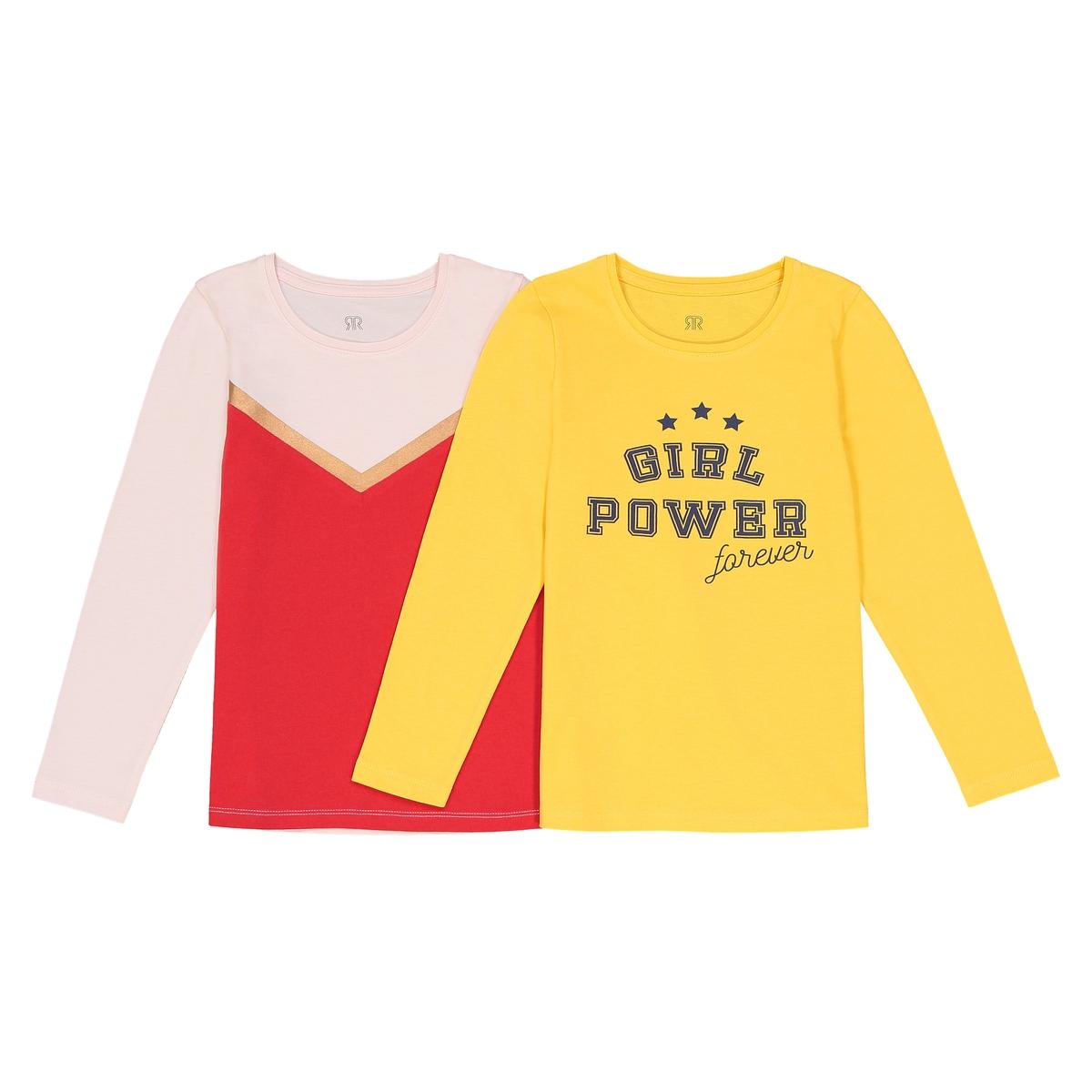 Confezione da 2 t-shirt a maniche lunghe 3 - 12 anni