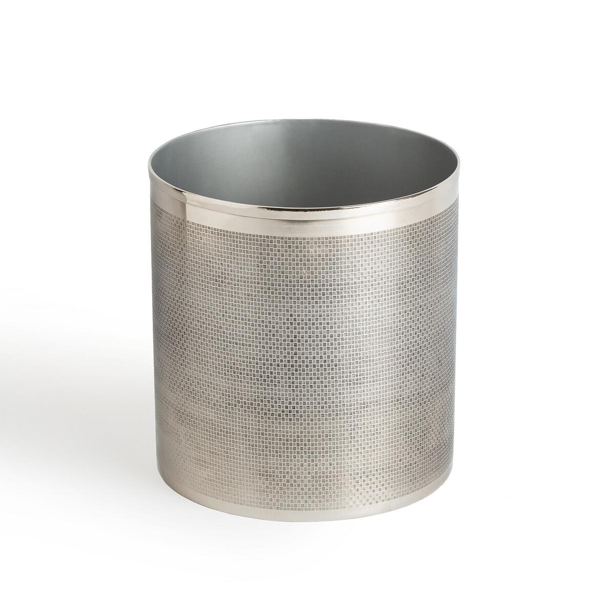 Ведро LaRedoute Для мусора для ванной из никеля Mathilda единый размер серый