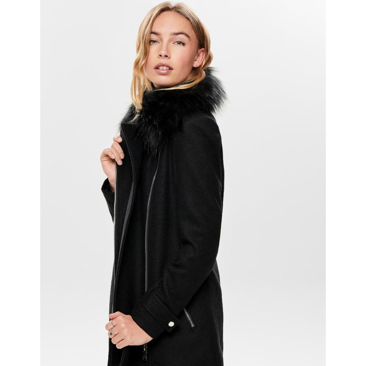 все цены на Пальто La Redoute Средней длины с асимметричной застежкой на молнию L черный онлайн