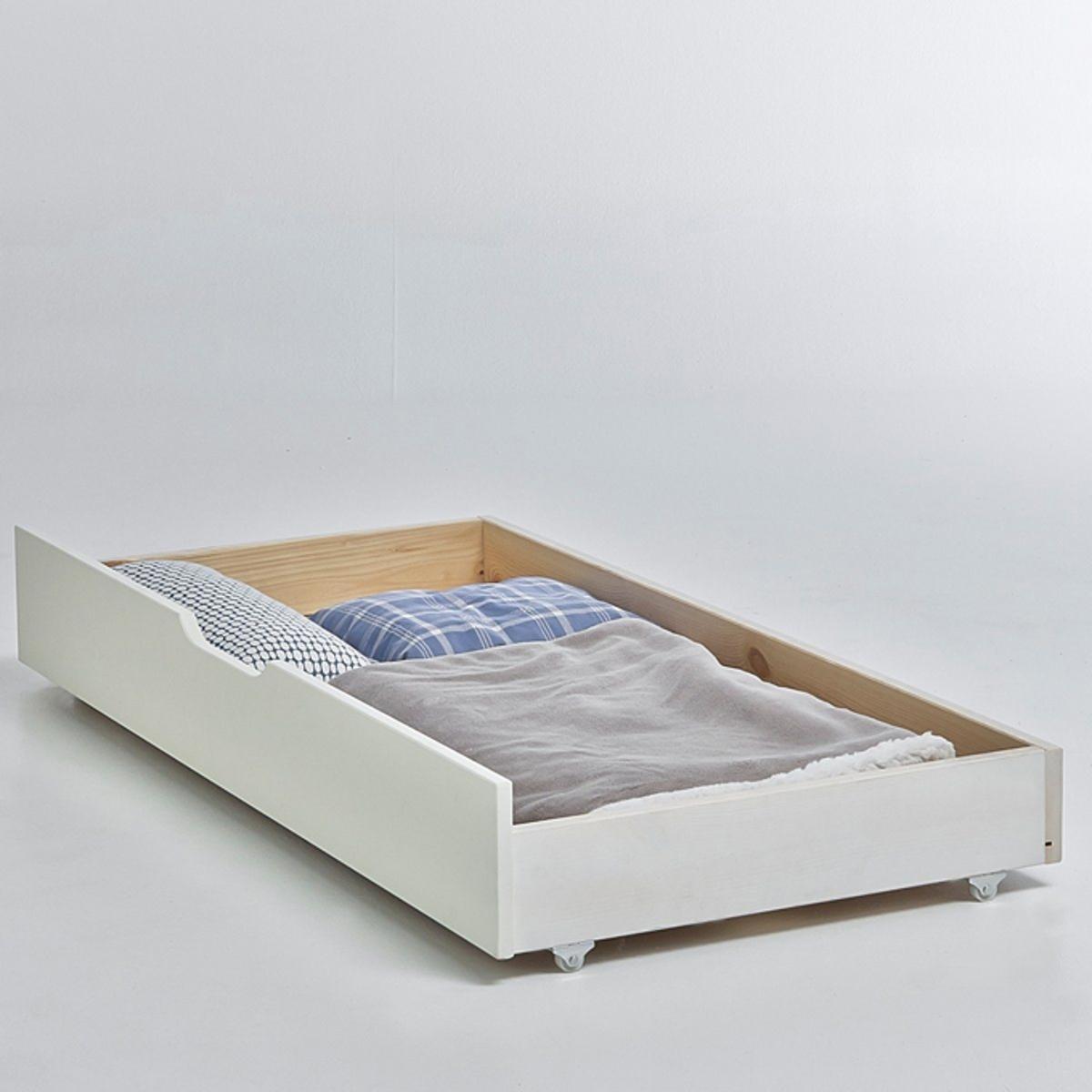Ящик для хранения под кроватью, ToudouЯщик для хранения под раздвижной кроватью, Toudou. Очень практичный ящик, который можно разместить под кроватью, сэкономив свободное пространство комнатыХарактеристики выдвижного ящика Toudou :Сосна, покрытие акриловой краской.Дно ящика из фибролитовой плитыРаздвижную кровать Toudou вы можете найти на сайте laredoute.ruКачество :Вся наша продукция отвечает действующим стандартам безопасности.Размеры выдвижного ящика Toudou :Общие размеры:Длина : 130 смВысота : 18 смГлубина : 62 смРазмер и вес с упаковкой :1 упаковкаШ.146 x В.6 x Г.32 см9 кгДоставка:Товар продается в разобранном виде.Возможна доставка до двери по предварительной договоренности.Внимание! Убедитесь, что возможно осуществить доставку товара, учитывая его габариты (проходит в дверные проемы, лестничные проходы, лифты).Сервис LaRedoute:Возврат и обмен возможны в течение 2х недель с момента доставки.C 1 мая 2013 года мы являемся участниками экологических мероприятий по утилизации использованной мебели. Сумма с продажи будет полностью пожертвована Эко-Мебель, утвержденному органу, посвященному разработке решений по переработке и восстановлению используемой мебели.<br><br>Цвет: белый,светлое дерево