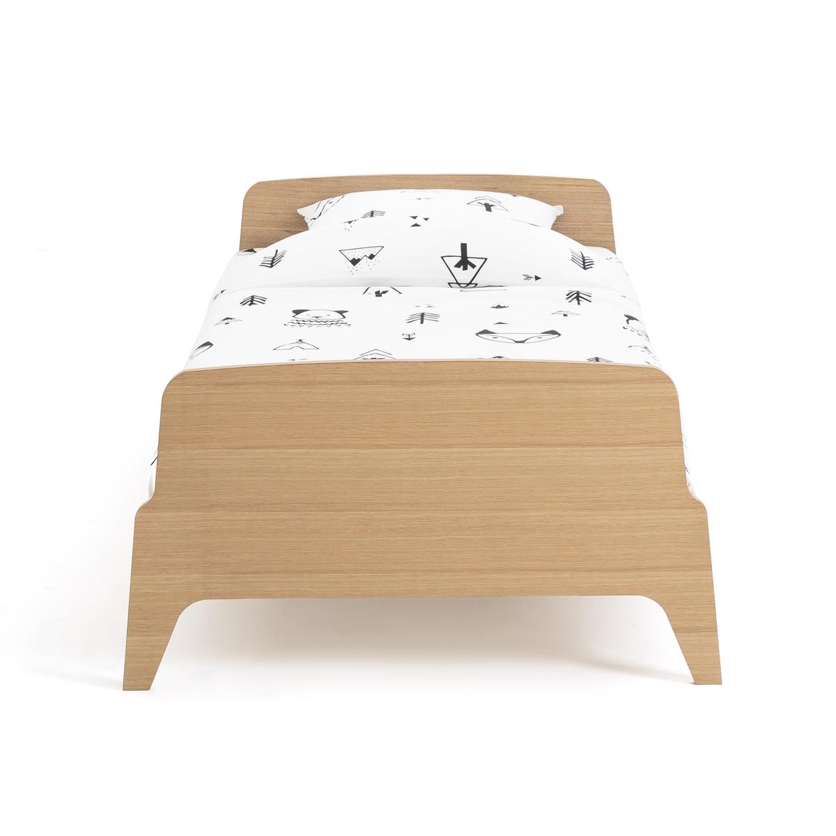 Кровать LaRedoute Детская с сеткой ADIL 90 x 190 см каштановый