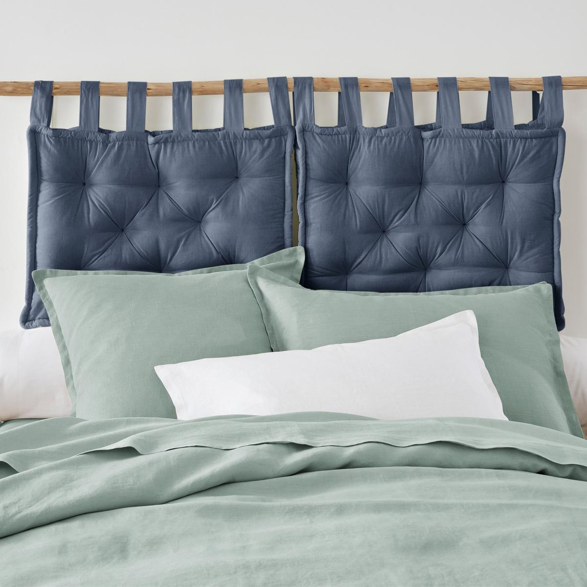 Подушка La Redoute Для изголовья кровати 50 x 70 см синий подушка для изголовья кровати 100% хлопокscenario