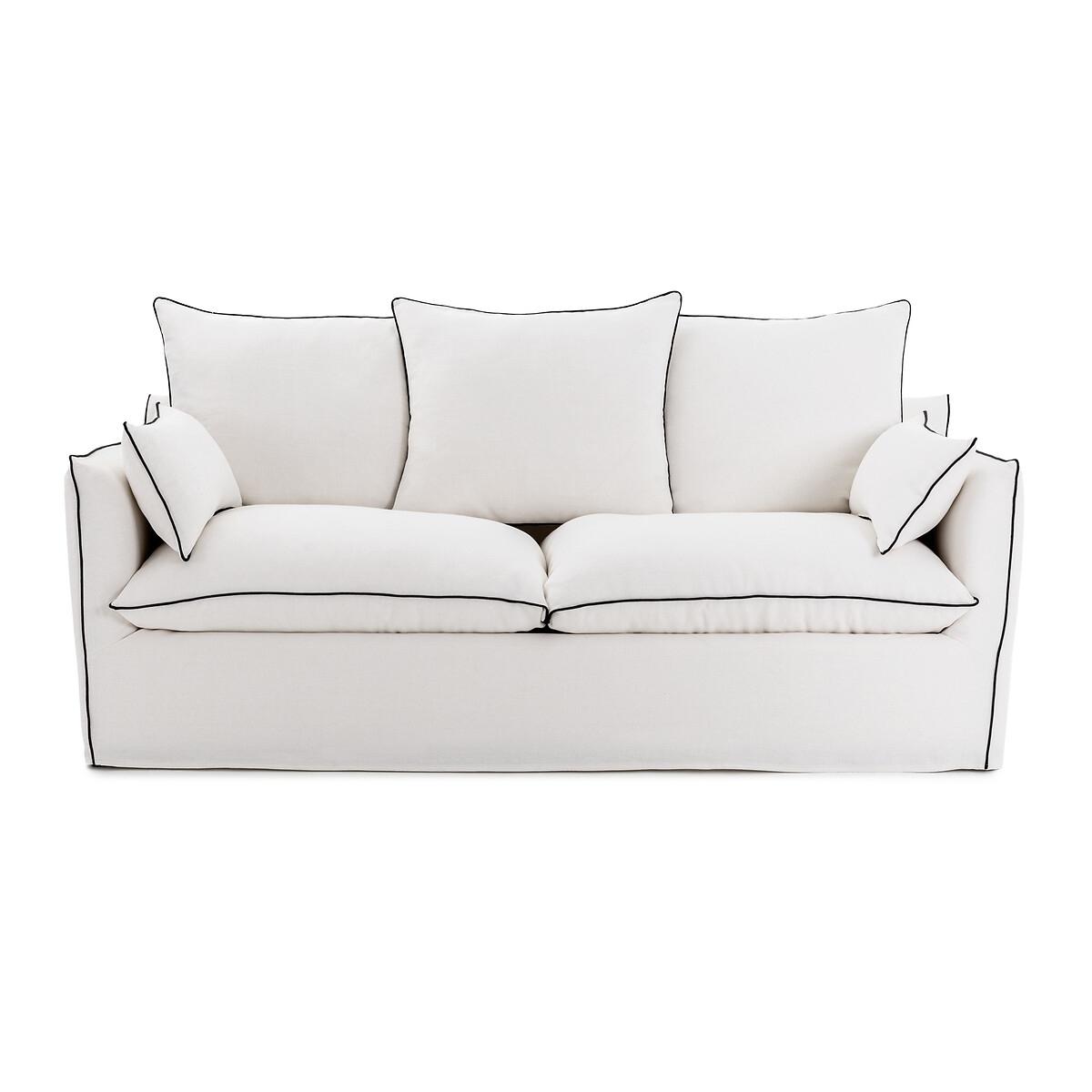 Canapé d'angle 5 places Noir Tissu Confort