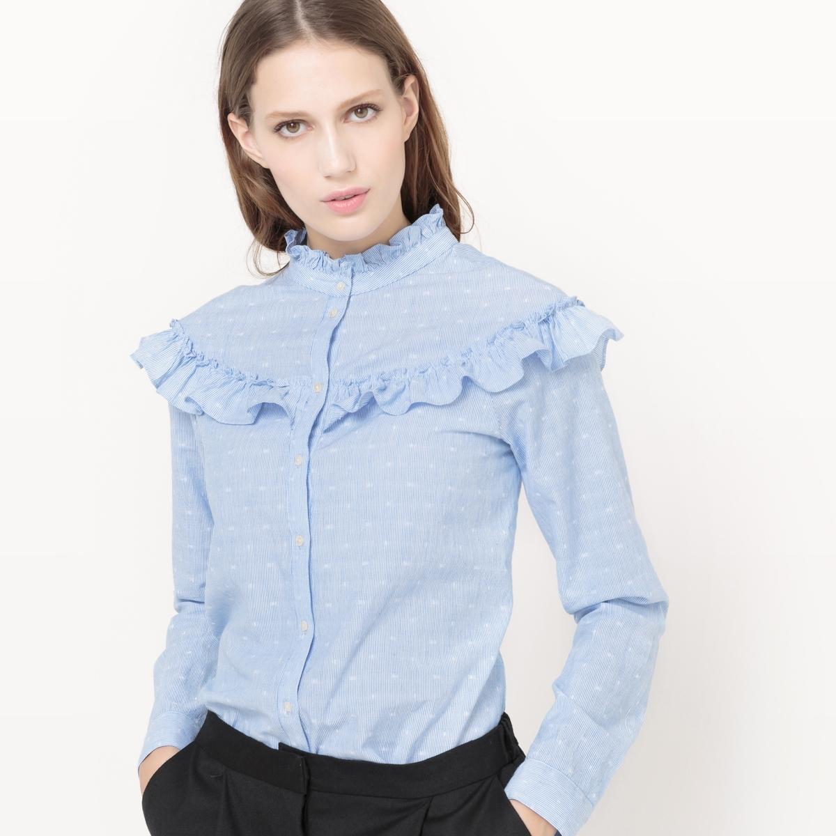 Рубашка VIDOTTA FLOUNCE SHIRTСостав и описание :Материал : 80% хлопка, 20% полиэстераМарка : VILA.<br><br>Цвет: небесно-голубой<br>Размер: XS