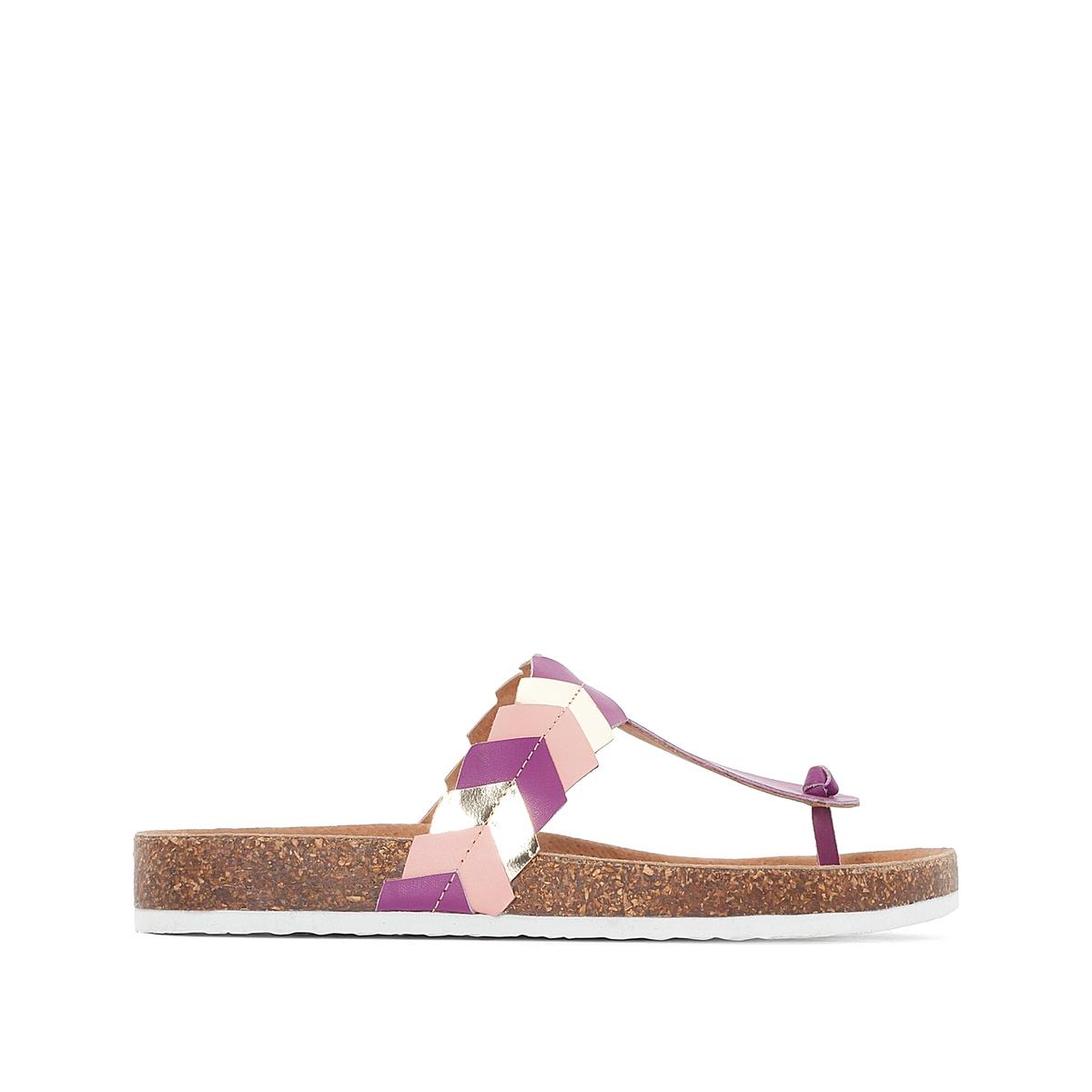 Туфли без задника двухцветные