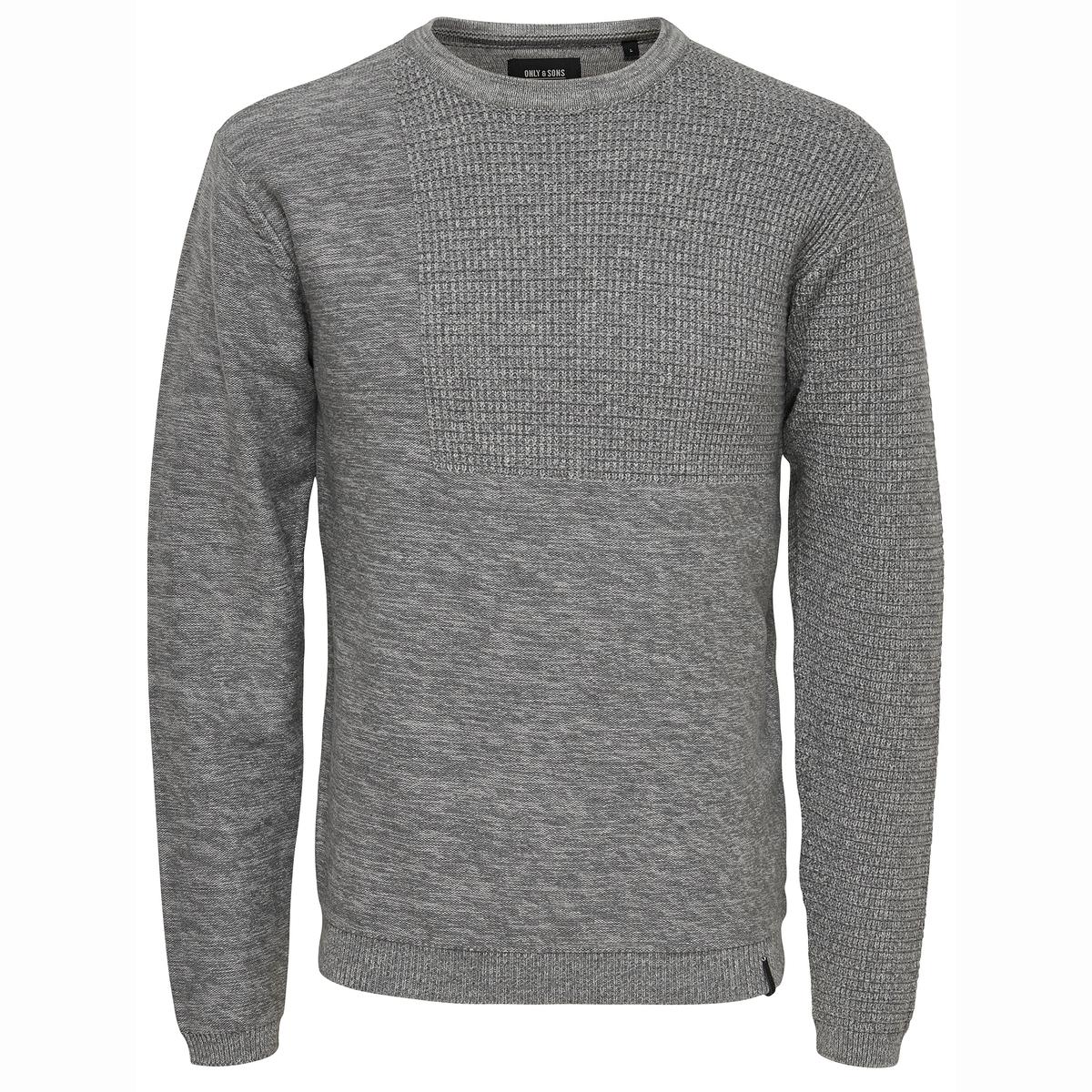 Пуловер из оригинального трикотажа DuncanСостав и описание: :Материал : 90% хлопка, 10% полиамида, нейлона®.Марка : ONLY &amp; SONS.<br><br>Цвет: серый меланж<br>Размер: XL