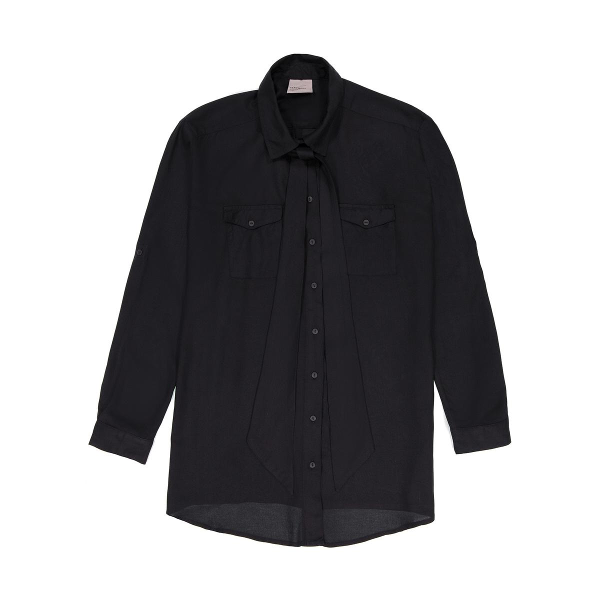 Рубашка с галстуком-бантом рубашка vero moda vero moda ve389ewolz10