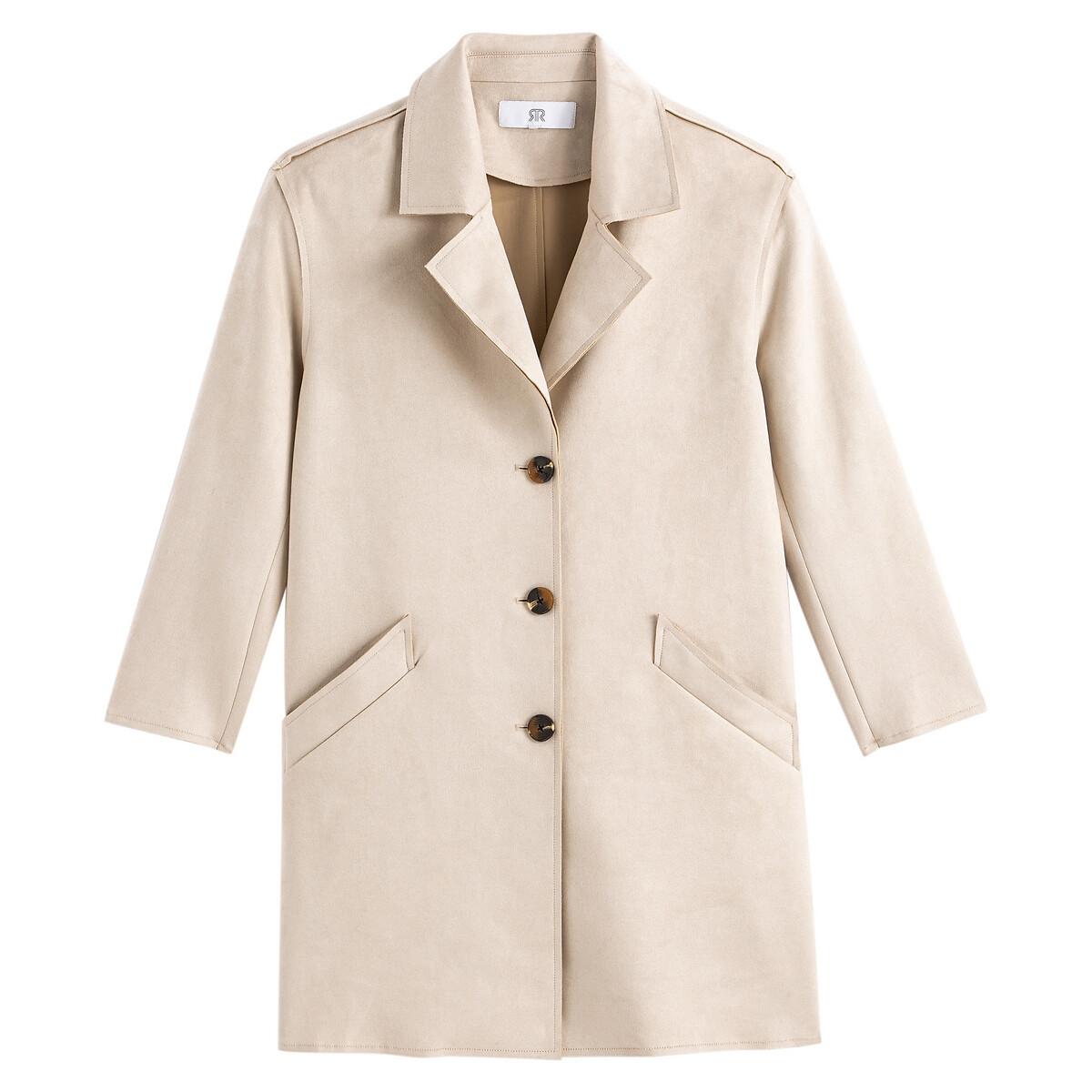 Manteau léger en suédine
