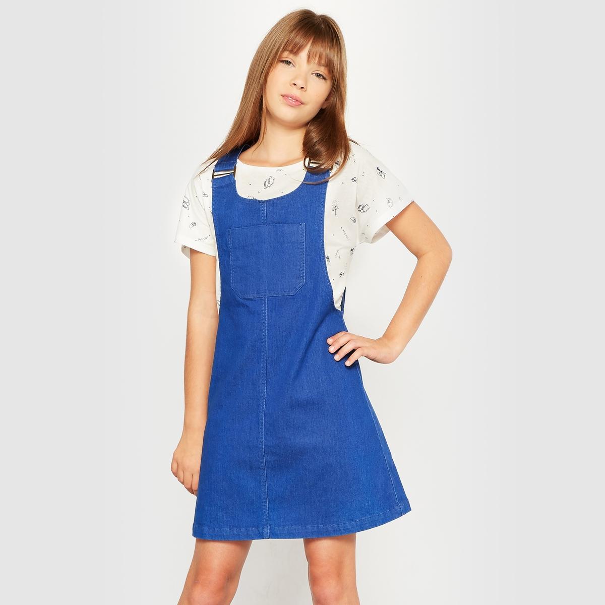 Платье-комбинезон из денима, 10-16 лет