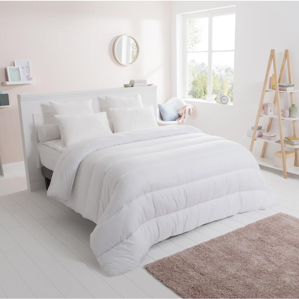 Одеяло LaRedoute Из синтетики 300 гм 260 x 240 см белый одеяло la redoute nature полиэстер чехол из биохлопка гм 240 x 220 см белый