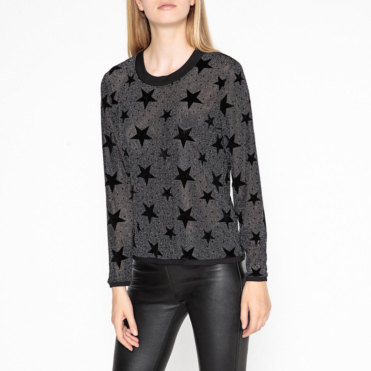 Пуловер с круглым вырезом из тонкого трикотажа PIERRE