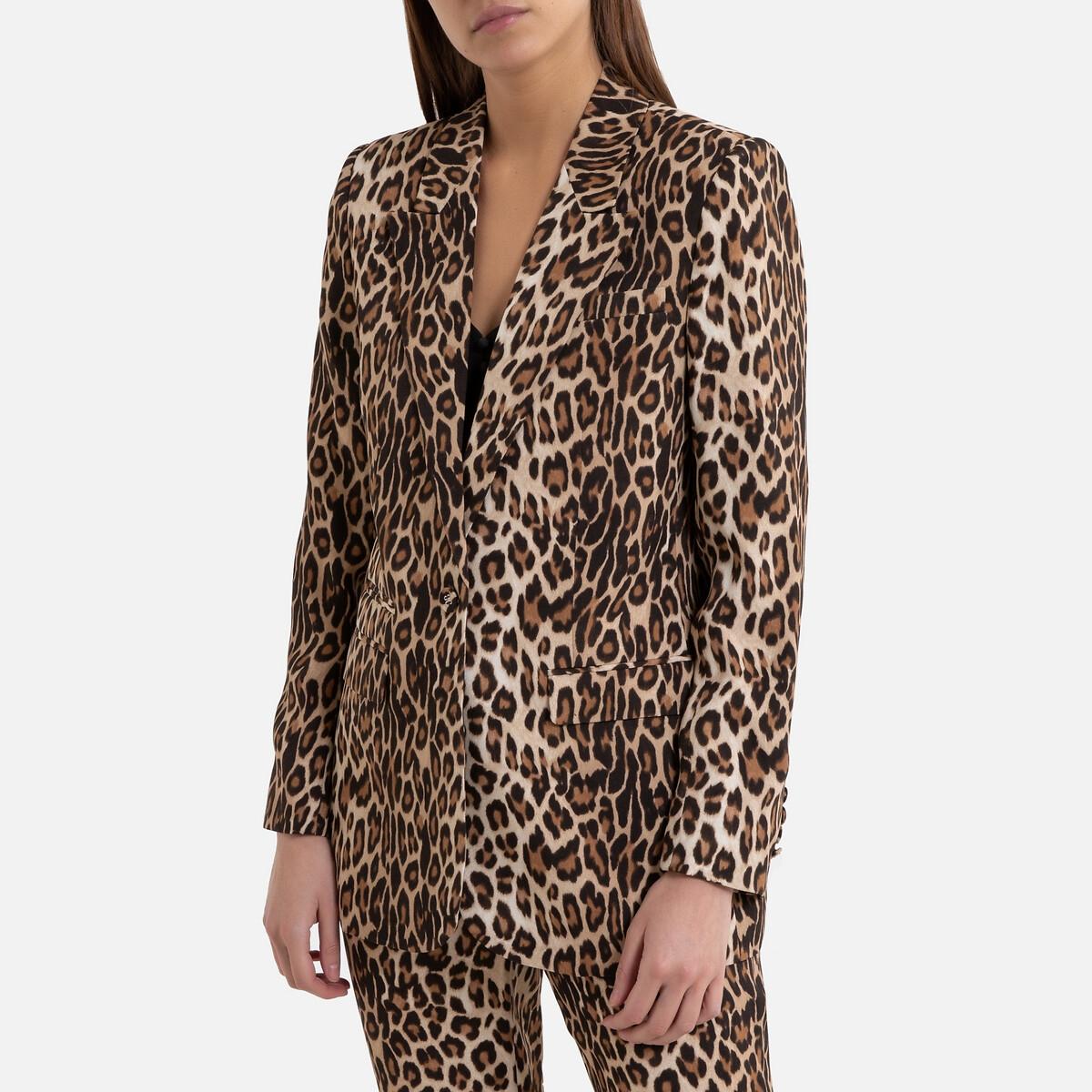 Chaqueta con motivo leopardo