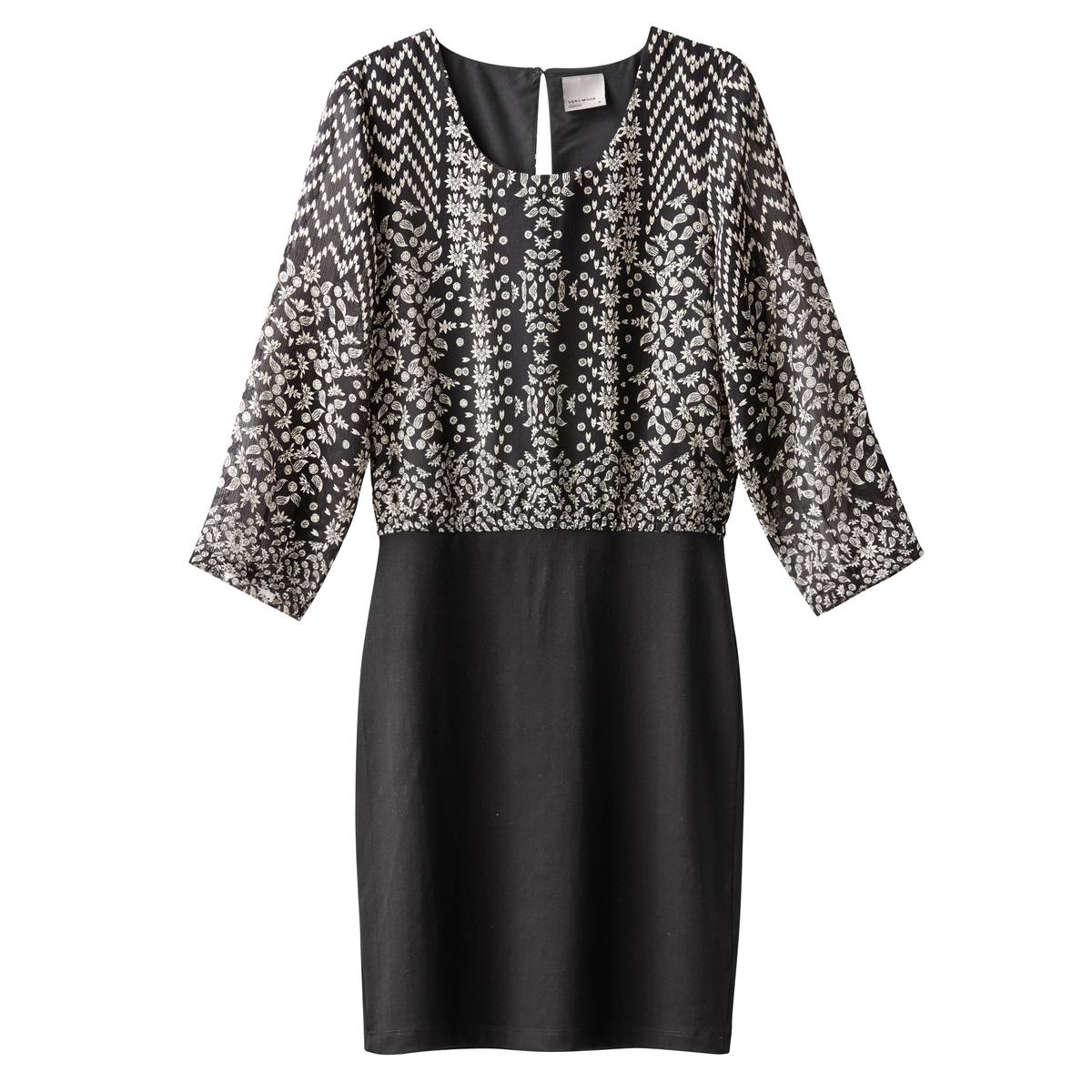Платье VMJOLEYN 3/4 SHORT DRESS BOOSСостав и описание :Материал : 100% полиэстерМарка : VERO MODA<br><br>Цвет: черный
