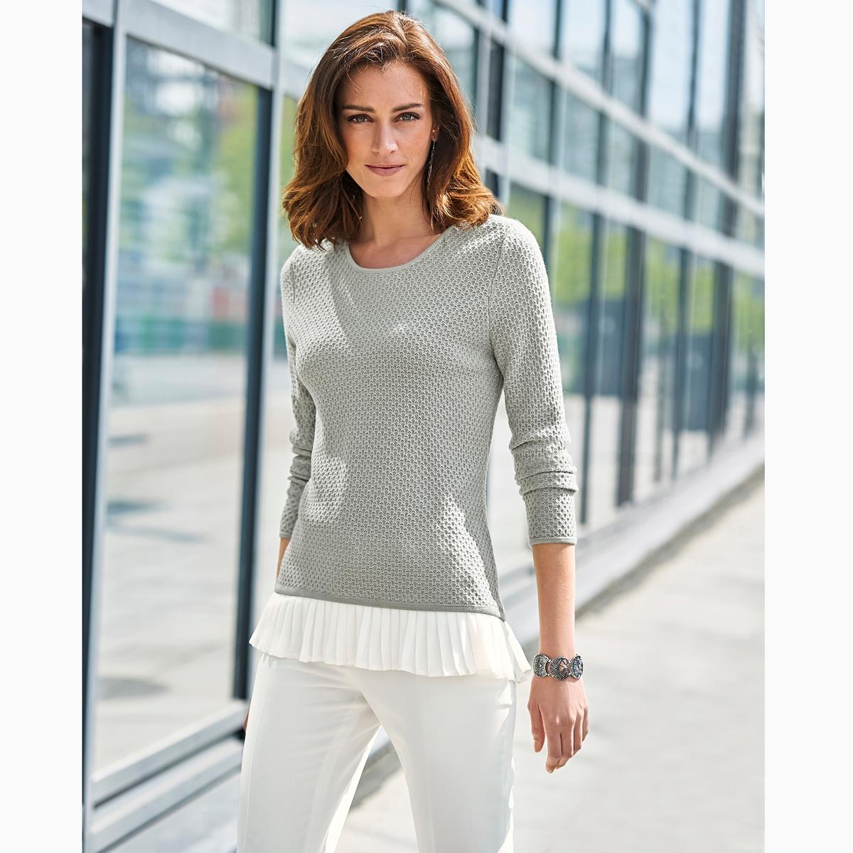 Пуловер из оригинального трикотажа, 10% шерсти пуловер с капюшоном из оригинального трикотажа