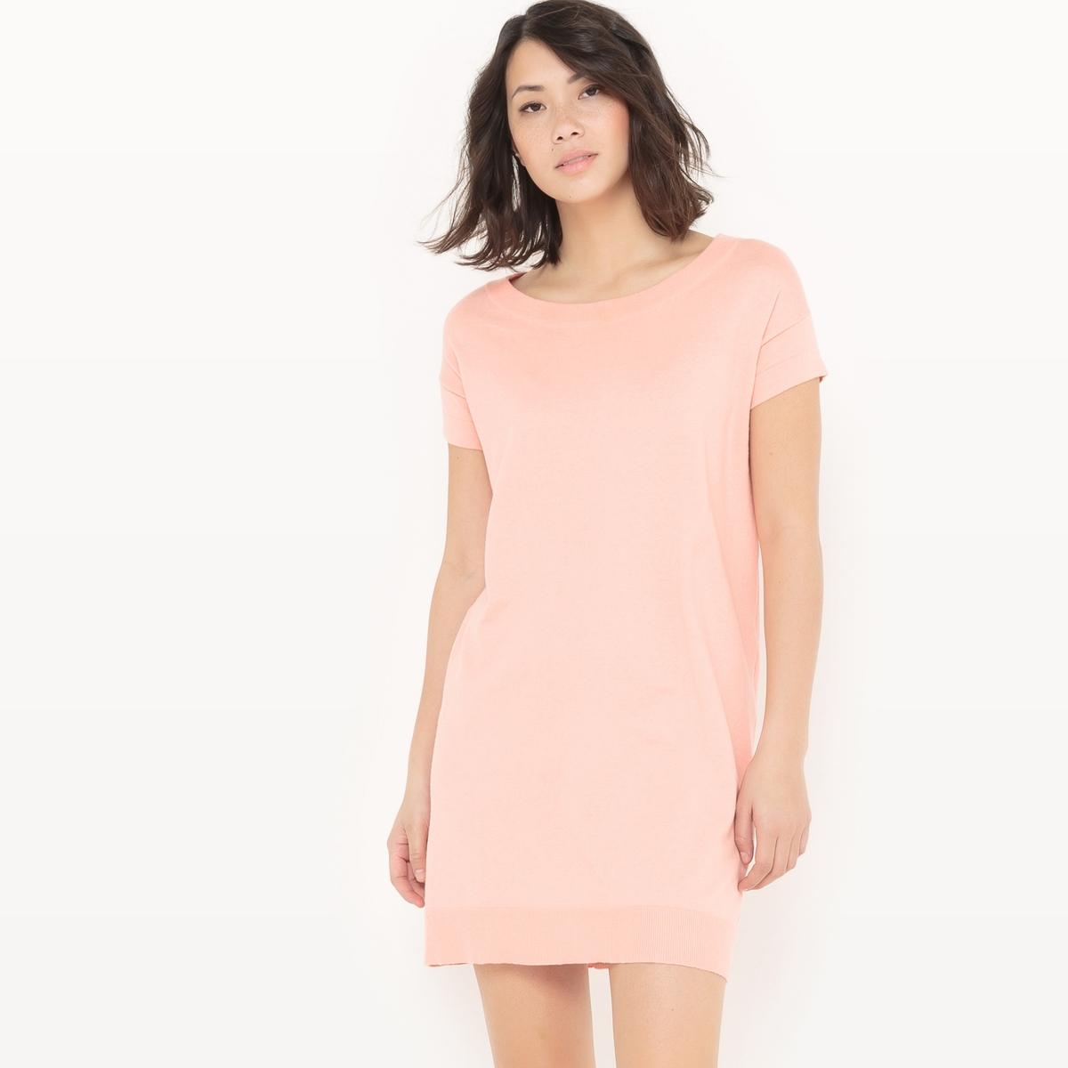 Платье-пуловер из хлопка/шелка myone пуловер из шелка и хлопка