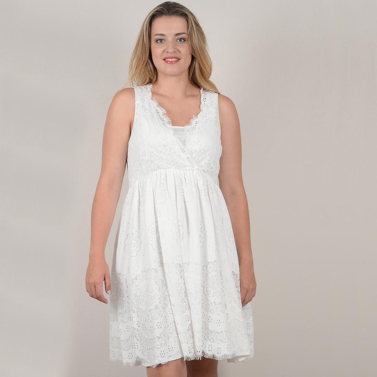 купить Платье короткое расклешенное однотонное, с короткими рукавами по цене 3534.3 рублей
