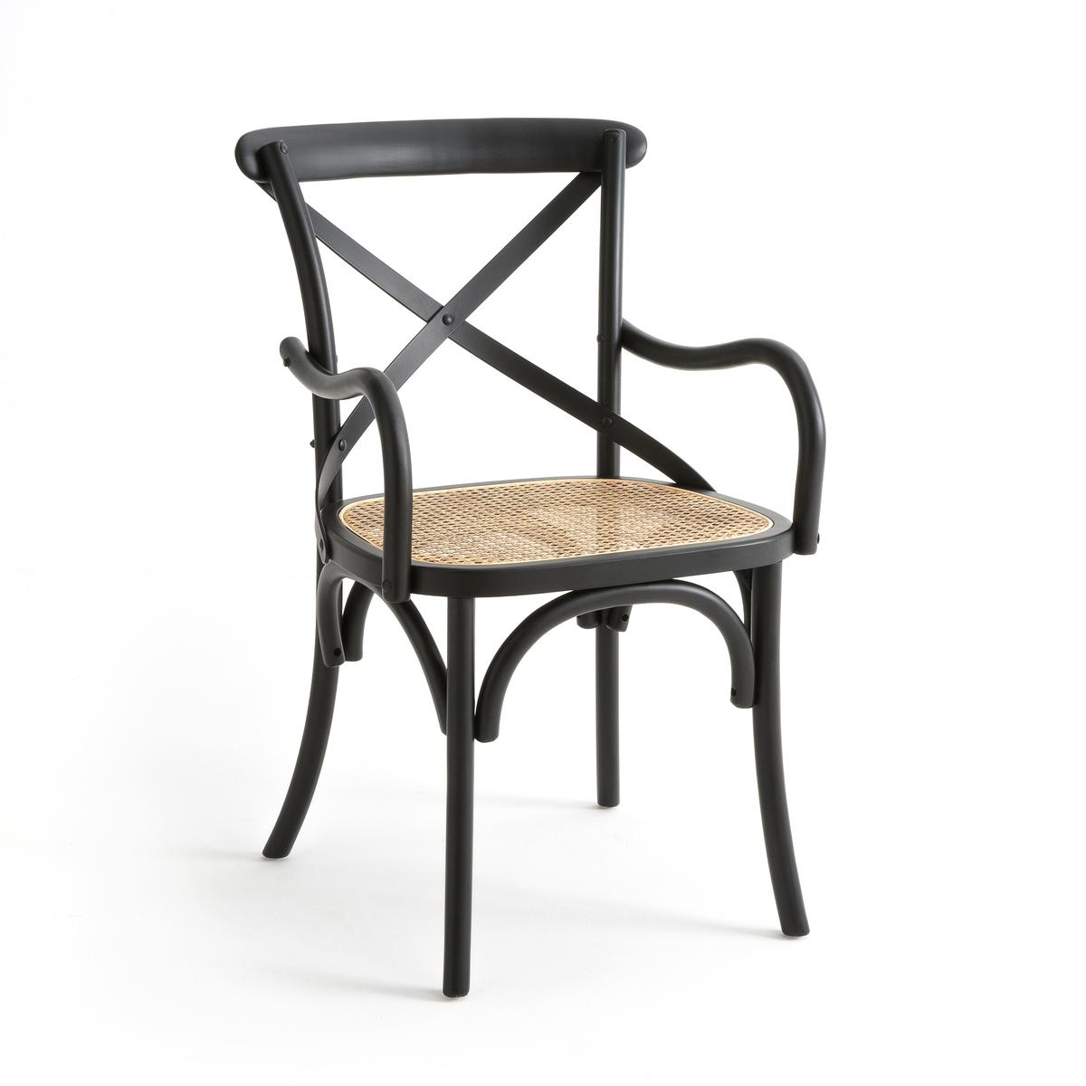 Кресло CedakКресло Cedak. Аутентичное и удобное кресло Cedak отлично будет смотреться за столом в столовой, в гостиной или в вашем рабочем кабинете . Описание кресла Cedak : Изогнутая спинка с перекрещиванием . Плетеное сиденье . Характеристики кресла Cedak : массив бука с черным матовым покрытием, отделка НЦ-лаком . Плетеное сиденье (настоящее плетение). Всю коллекцию Cedak Вы найдете на laredoute.ruРазмеры кресла Cedak : Общие Длина : 54 см Высота : 88 см Глубина : 59 см Сиденье : H47 cm Размеры и вес ящика : 1 упаковка 56 x 94 x 61 cм, 9 kгДоставка : Кресло Cedakпродается в собранном виде . Доставка до квартиры !  ! Убедитесь в том, что товар возможно доставить на дом, учитывая его габариты (проходит в двери, по лестницам, в лифты).<br><br>Цвет: черный