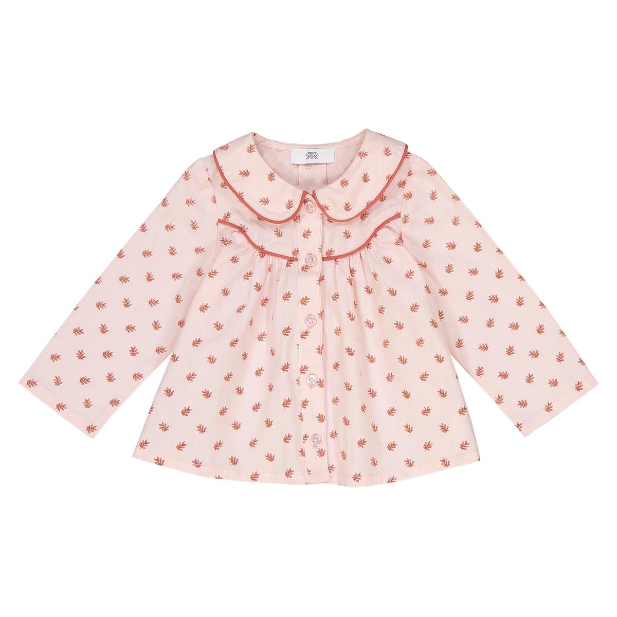 Блузка с длинными рукавами и отложным воротником 1 мес - 3 лет футболка с длинными рукавами 1 мес 3 лет