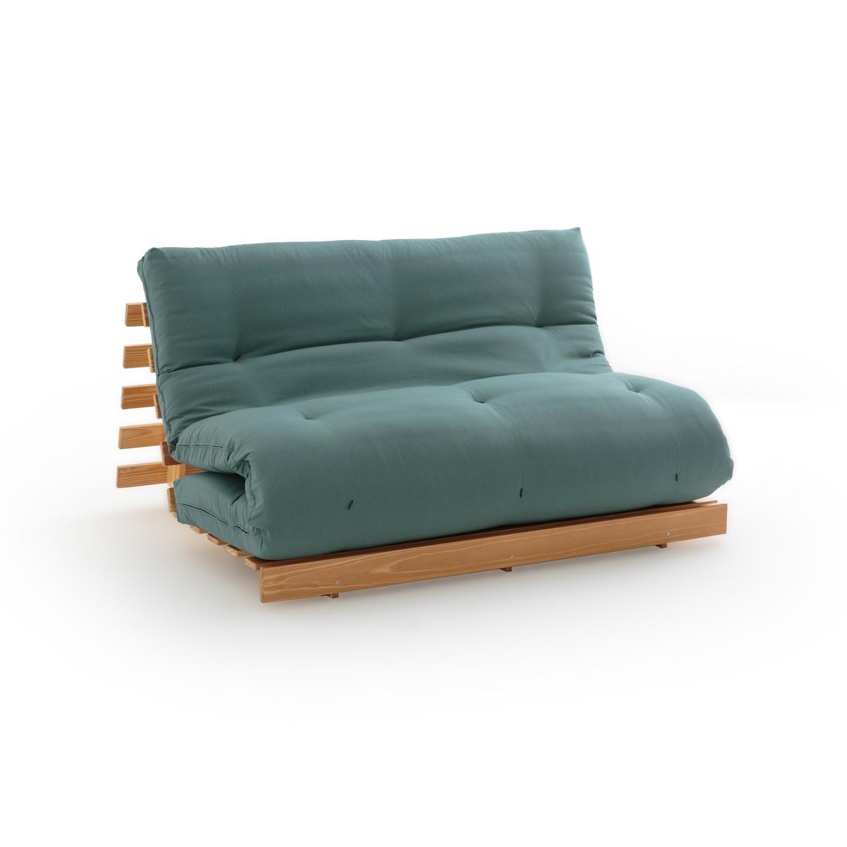 Матрас-футон La Redoute Из хлопка для банкетки THA 90 x 190 см зеленый комплект из полотенце для la redoute рук из хлопка и льна nipaly 50 x 100 см белый