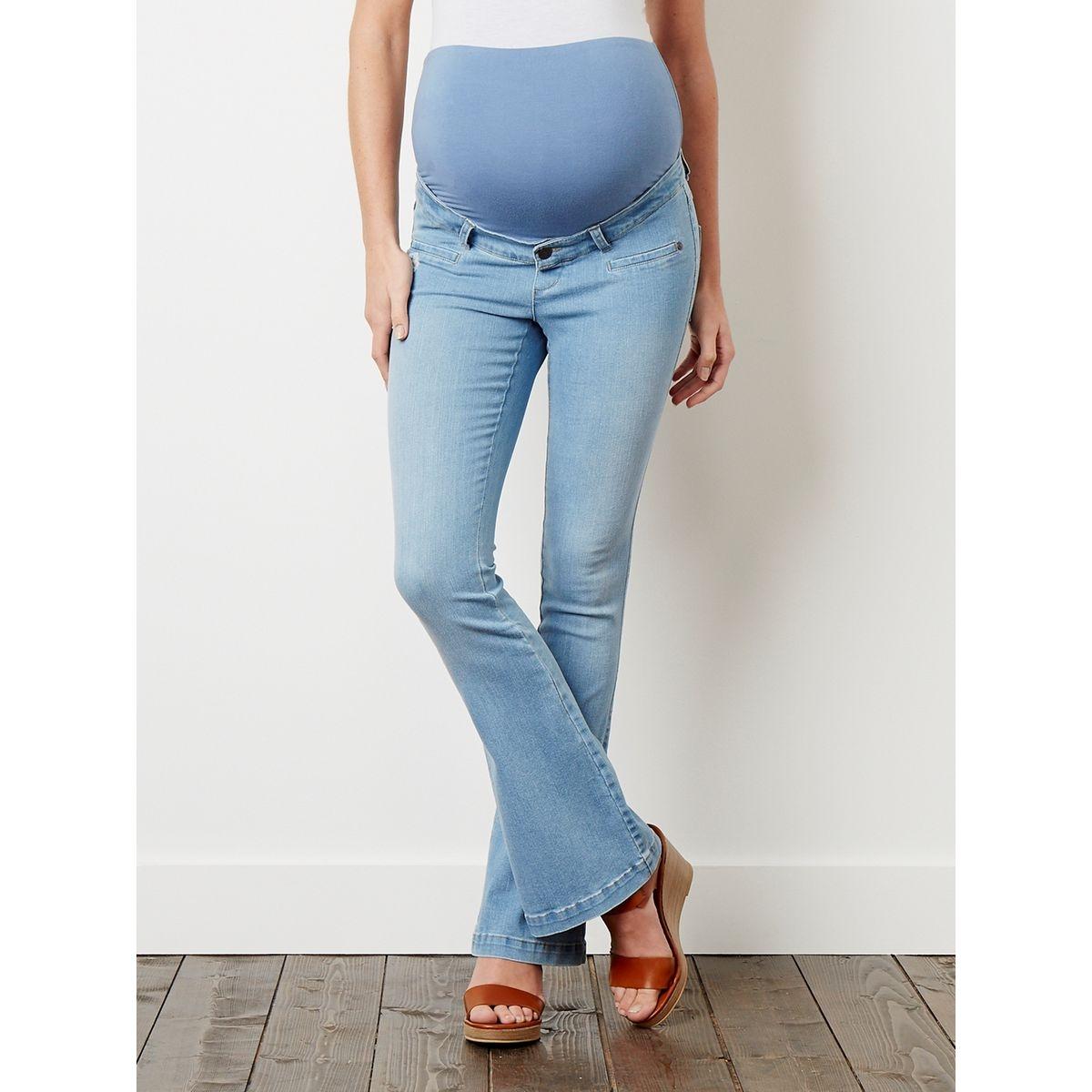 Jean flare de grossesse entrejambe 78 cm
