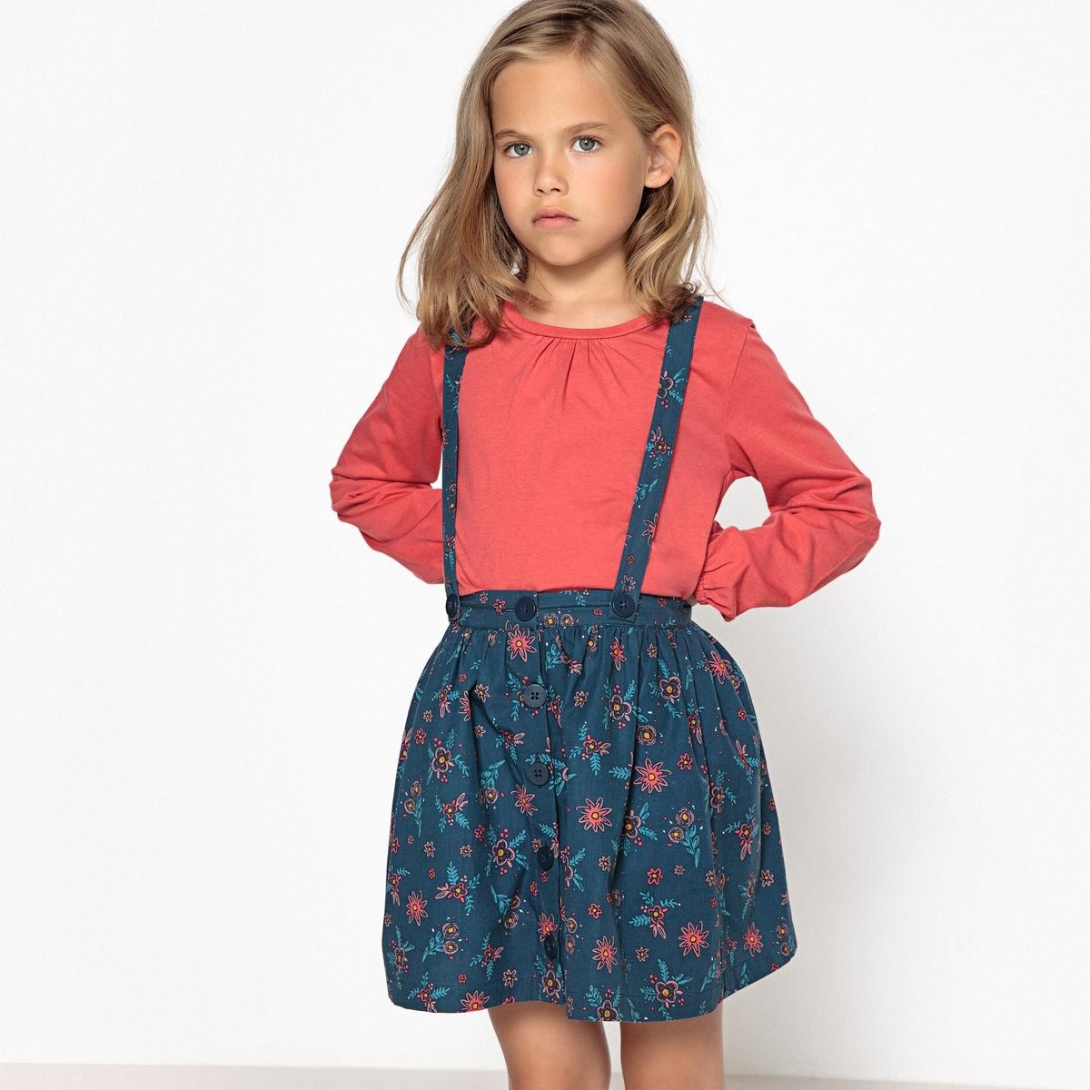 Комплект из футболки и юбки с рисунком, 3-12 лет