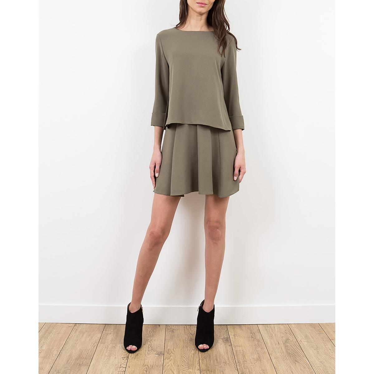 Платье с рукавами 3/4, из крепа LENNY B, RALLYEСостав и описание :Материал : 100% полиэстераМарка : LENNY B<br><br>Цвет: хаки,черный<br>Размер: 3(L).1(S).3(L).2(M)