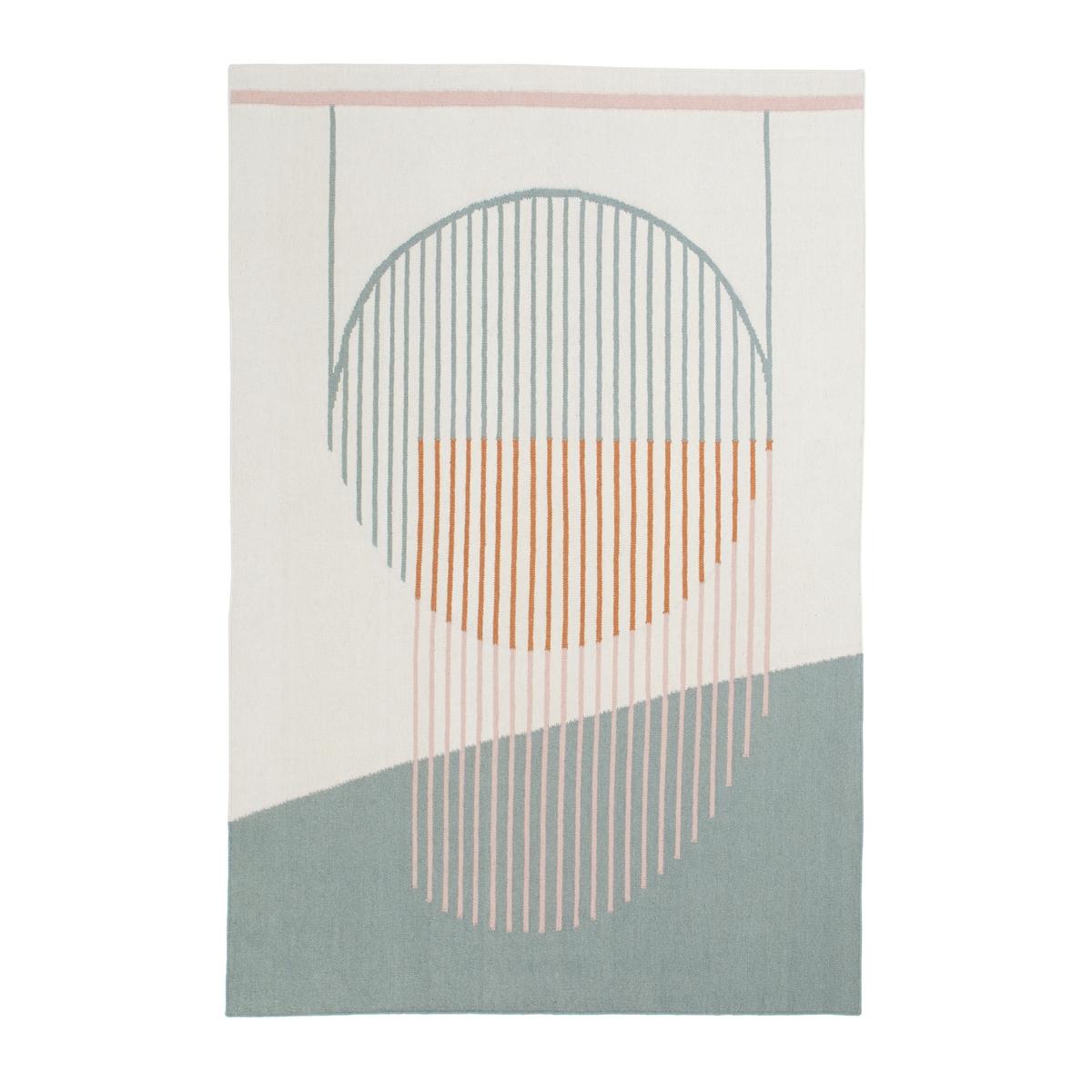 цена Ковер La Redoute Из хлопка и шерсти SONGE 120 x 170 см разноцветный онлайн в 2017 году