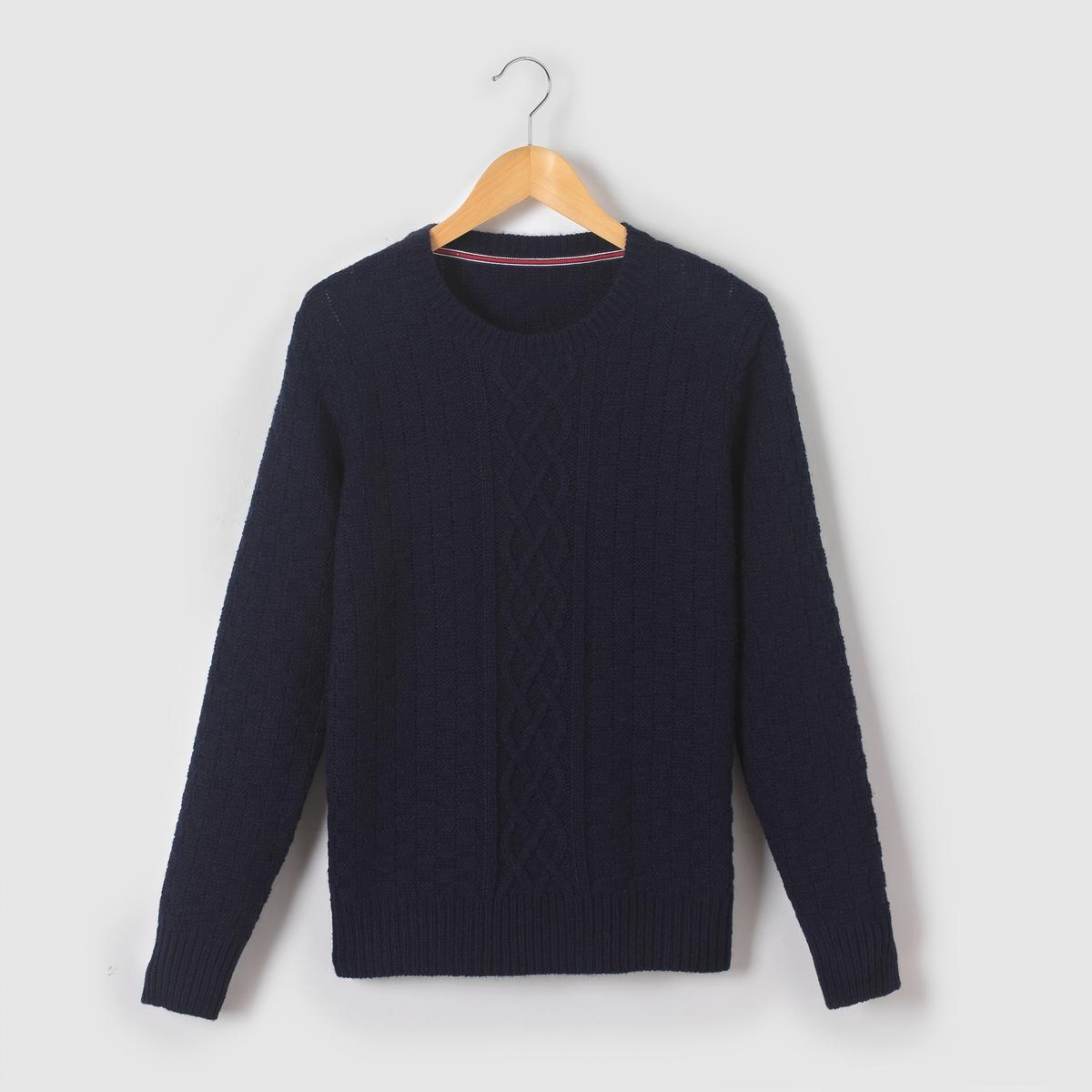Пуловер из трикотажа утепленный, 10-16 лет