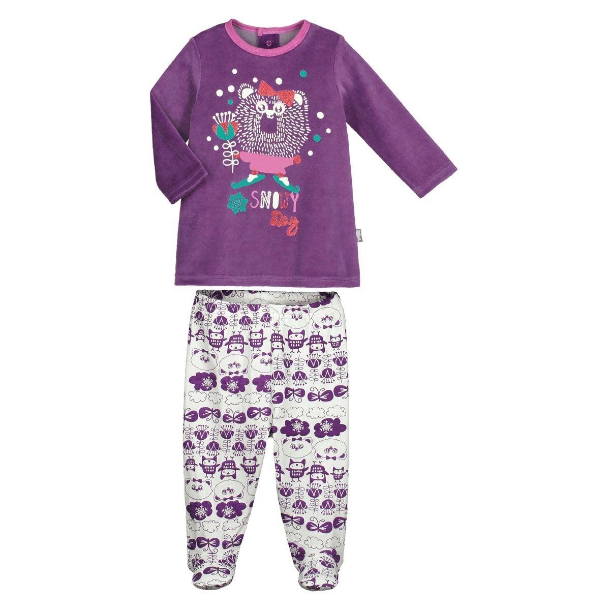 Pyjama bébé 2 pièces avec pieds Snowyday