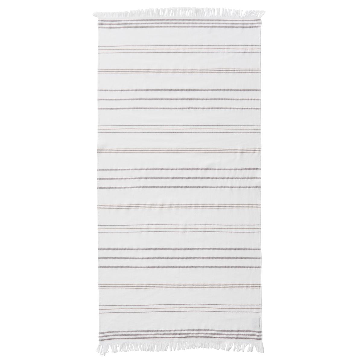 Полотенце пляжное IspartaПляжное полотенце Isparta. Традиционное полотенце для посещений  хамамов в Тунисе теперь используется как пляжное.Описание пляжного полотенца  Isparta :Рисунок в тонкую полоску, отделка бахромойХарактеристики пляжного полотенца Isparta :100% хлопок.300 г/м?.Машинная стирка при 40 °С.Размеры пляжного полотенца Isparta :70 x 140 см<br><br>Цвет: карамель,темно-синий