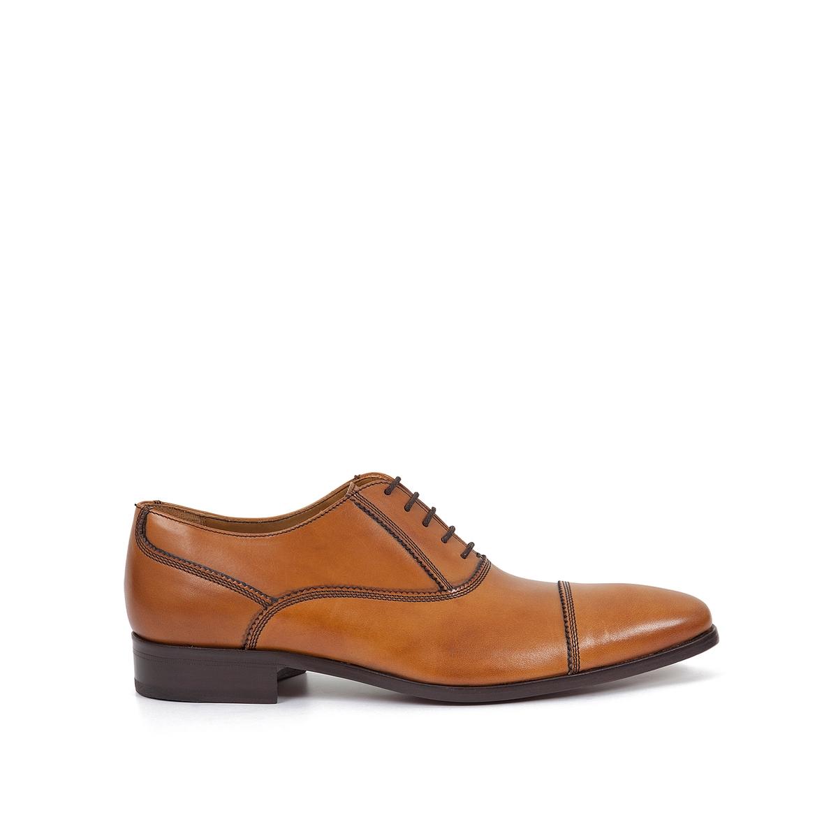 Ботинки-оксфорды кожаные ElopheВерх : кожа         Подкладка : кожа         Стелька : кожа         Подошва : кожа         Высота каблука : 1 см         Форма каблука : плоский каблук         Мысок : закругленный мысок         Застежка : шнуровка<br><br>Цвет: коньячный