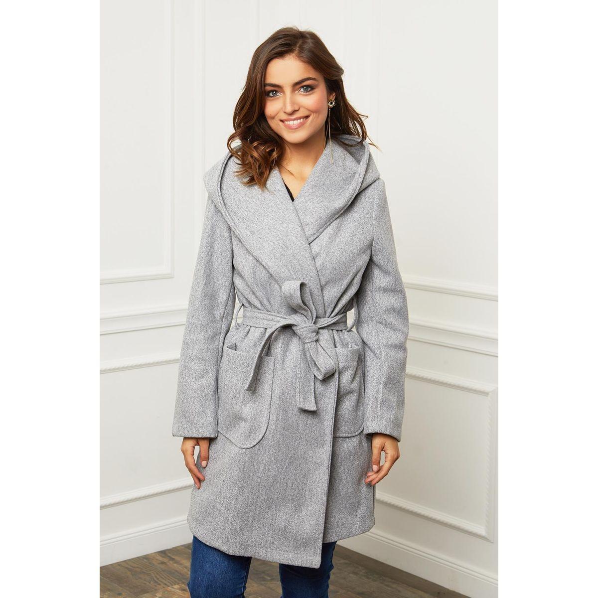 Manteau trois quart croisé