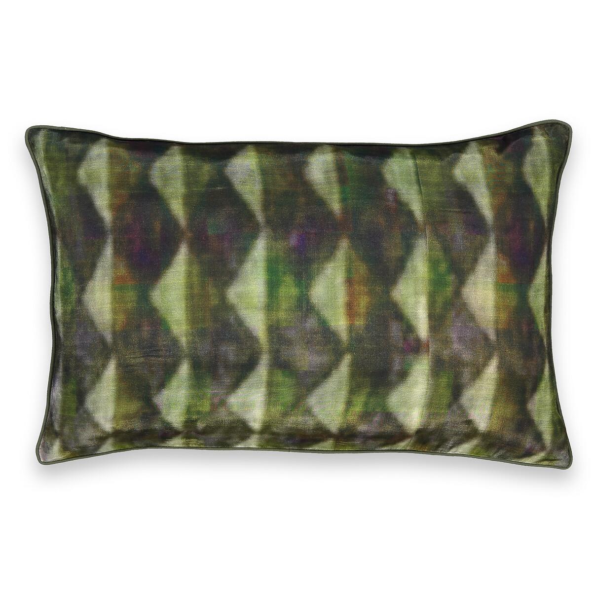 Фото - Чехол LaRedoute На подушку Shatou 60 x 40 см зеленый чехол laredoute на подушку валик с отделкой бисером volodia 45 x 45 см зеленый