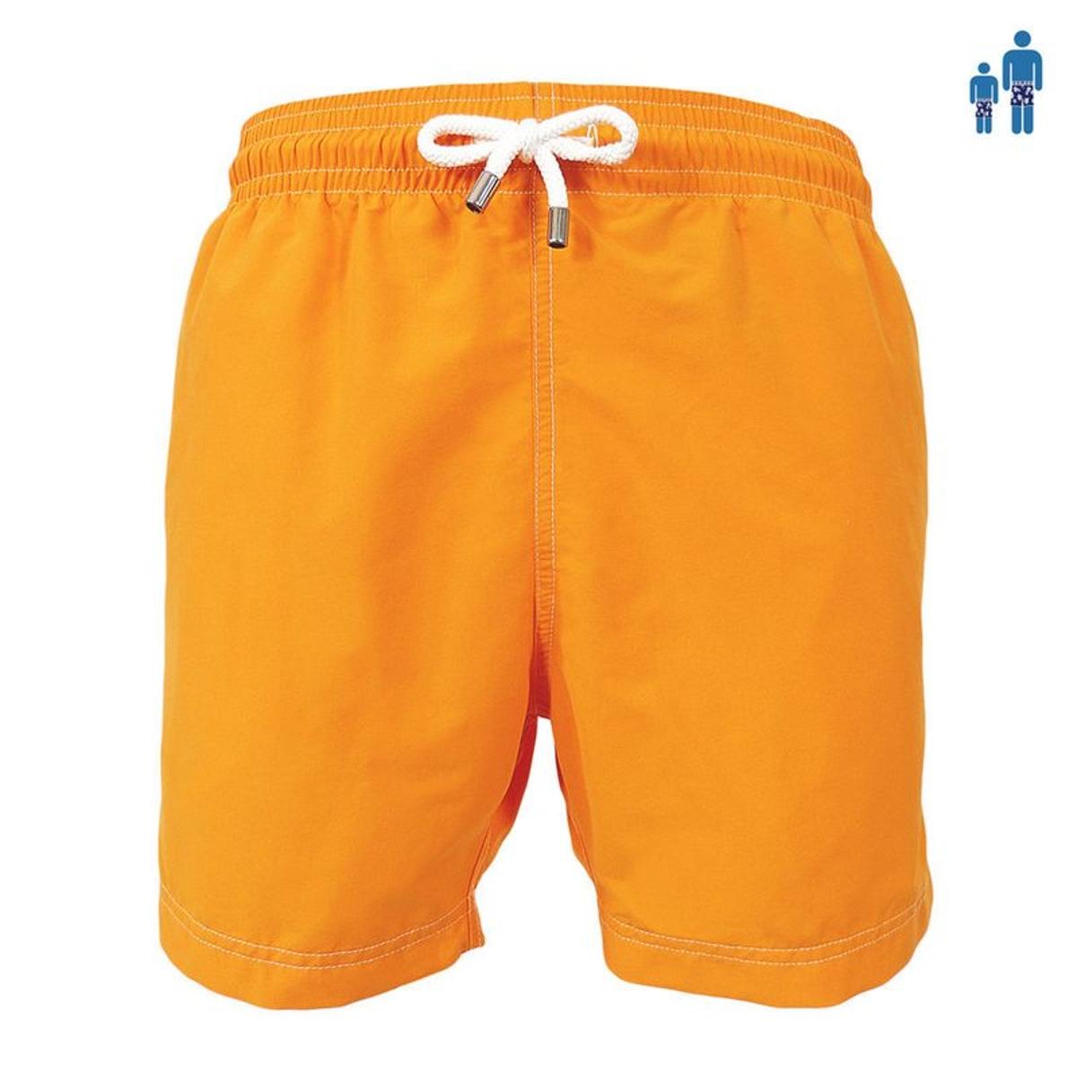 Maillot Short de bain homme Jules uni Mango orange