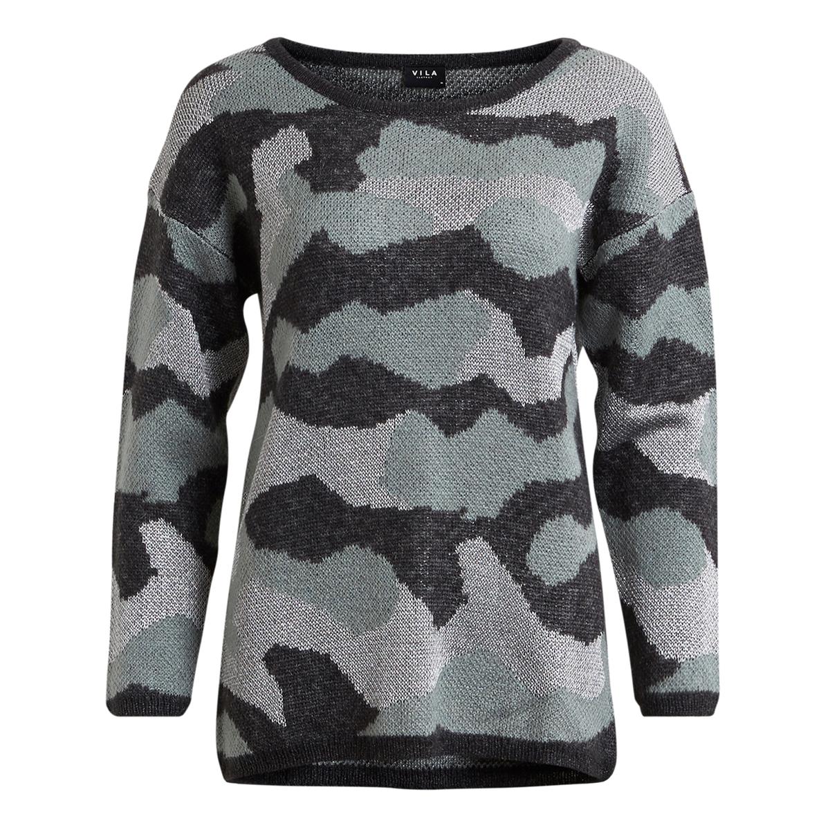 VILANE KNIT TOPПуловер с длинными рукавами VILANE KNIT TOP от VILA. Пуловер прямого покроя. Круглый вырез. С оригинальным камуфляжным рисунком. Состав и описание :Материал : 35% акрила, 30% растительных волокон, 18% полиамида, 11% металлизированных волокон, 3% мохера, 3% шерстиМарка : VILA.<br><br>Цвет: серо-зеленый<br>Размер: M