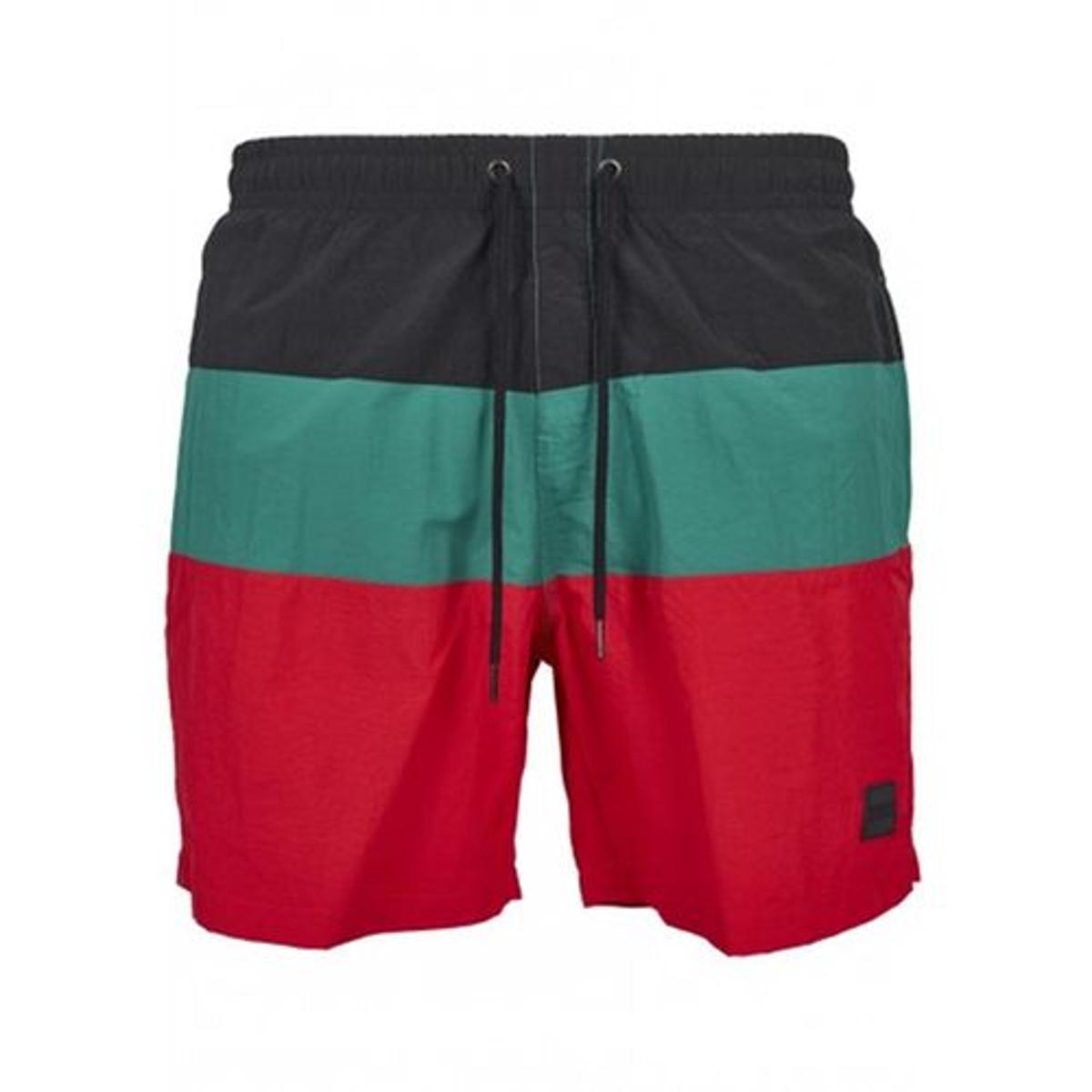 Short de bain rétro tricolore