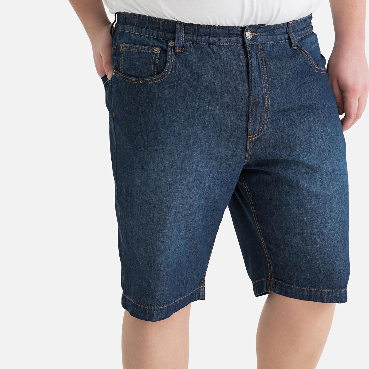 Bermudas 5 bolsos, cintura elástica