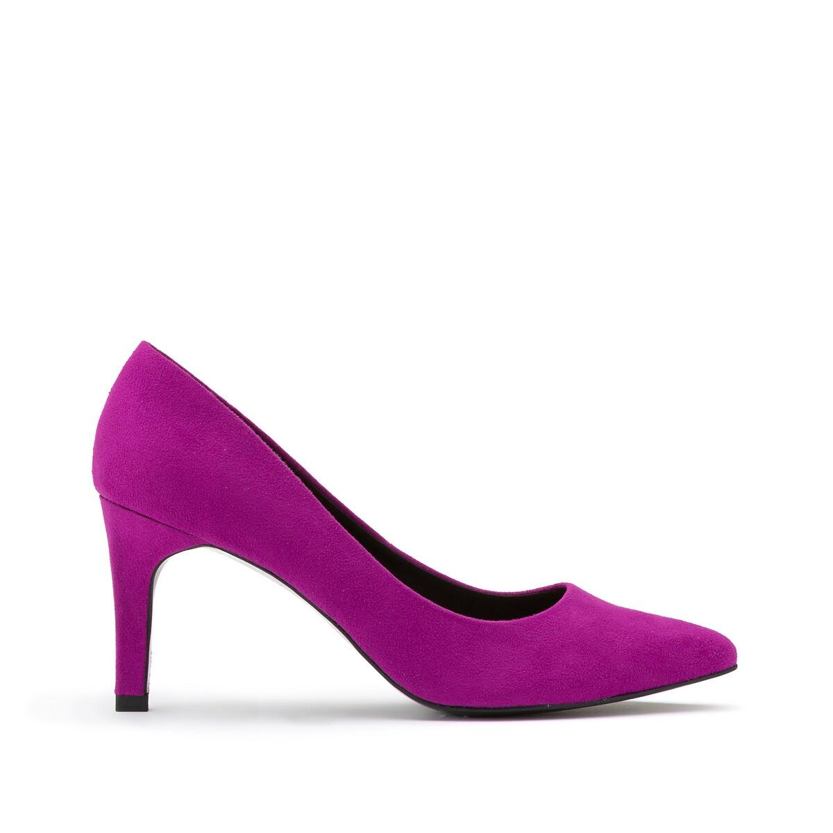 Туфли LaRedoute На высоком каблуке 36 фиолетовый