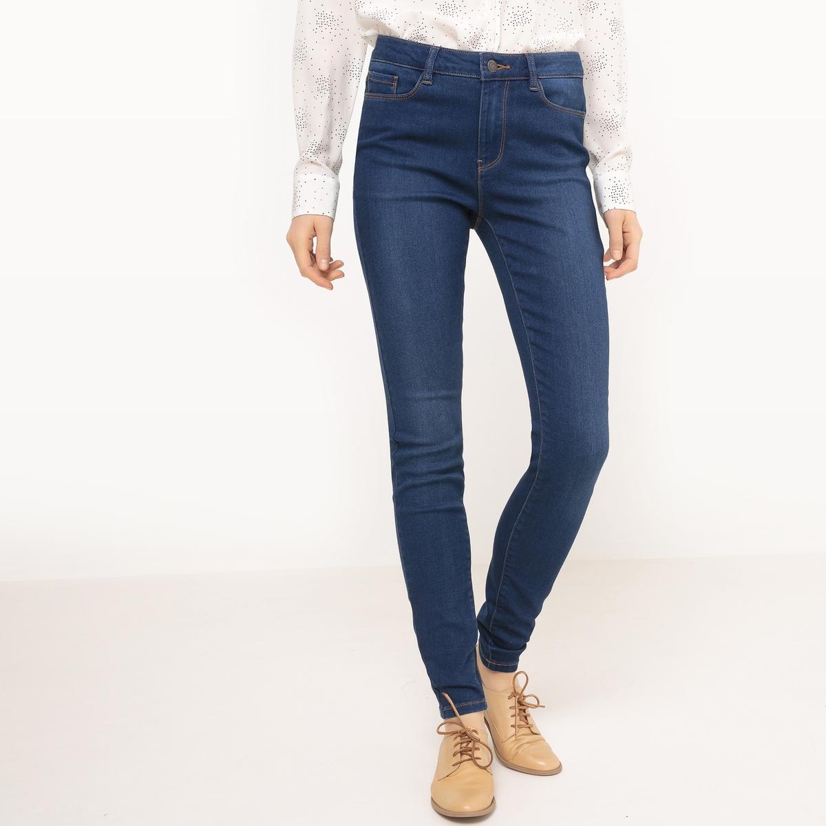 Джинсы узкие со стандартной талиейМатериал :27% вискозы, 41% хлопка, 2% эластана, 30% полиэстера      Высота пояса : стандартная  Покрой джинсов : узкий  Длина джинсов : длина 32<br><br>Цвет: синий стираный