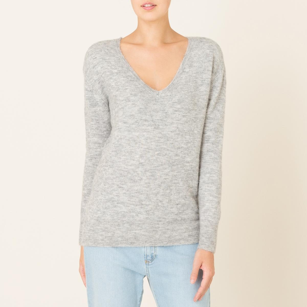Пуловер TERIYAKIСостав и описание Материал : 42% шерсти, 42% полиамида, 14% альпаки, 2% эластана.Марка : HARRIS WILSON<br><br>Цвет: серый