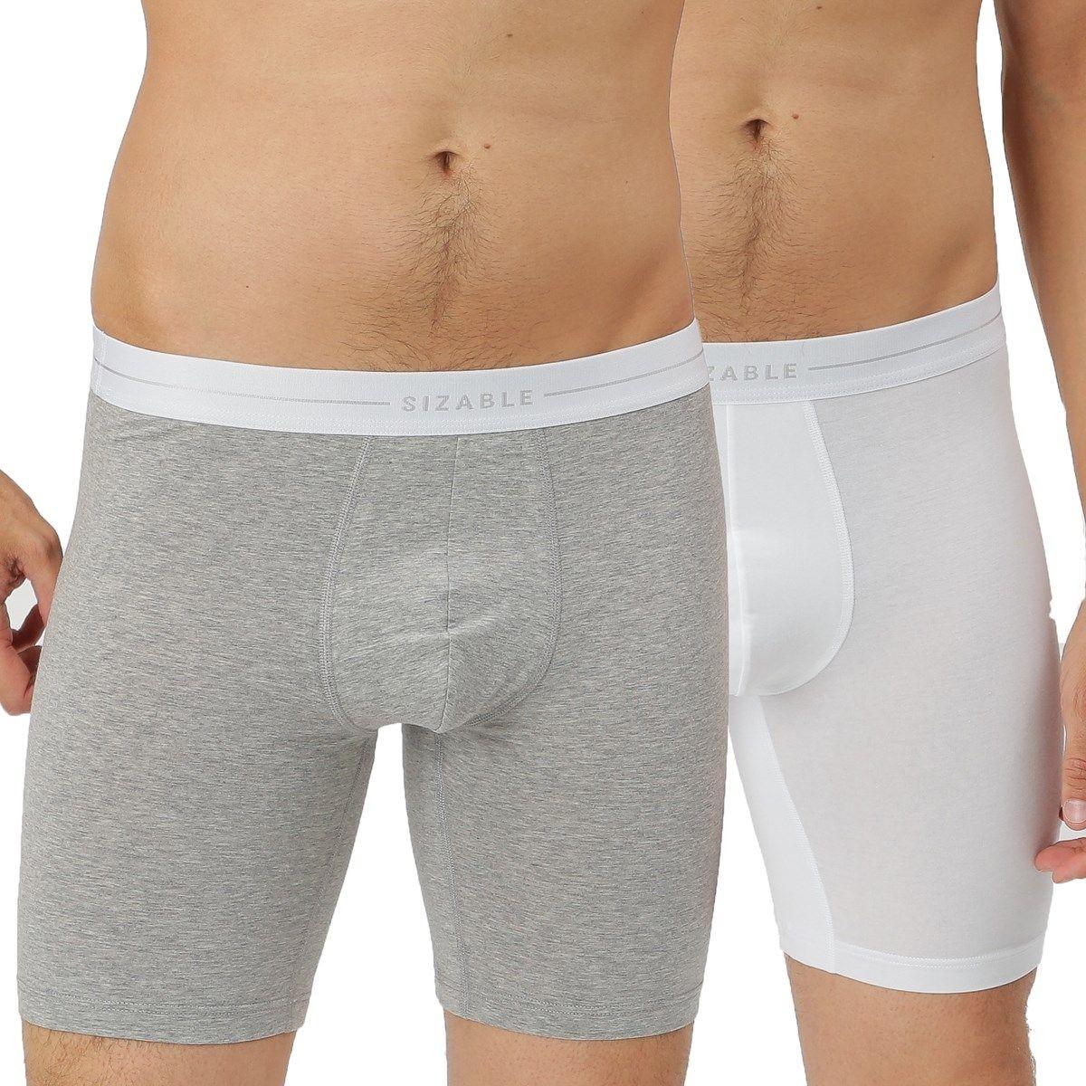 Lot de 2 boxers longs à ceinture élastiquée